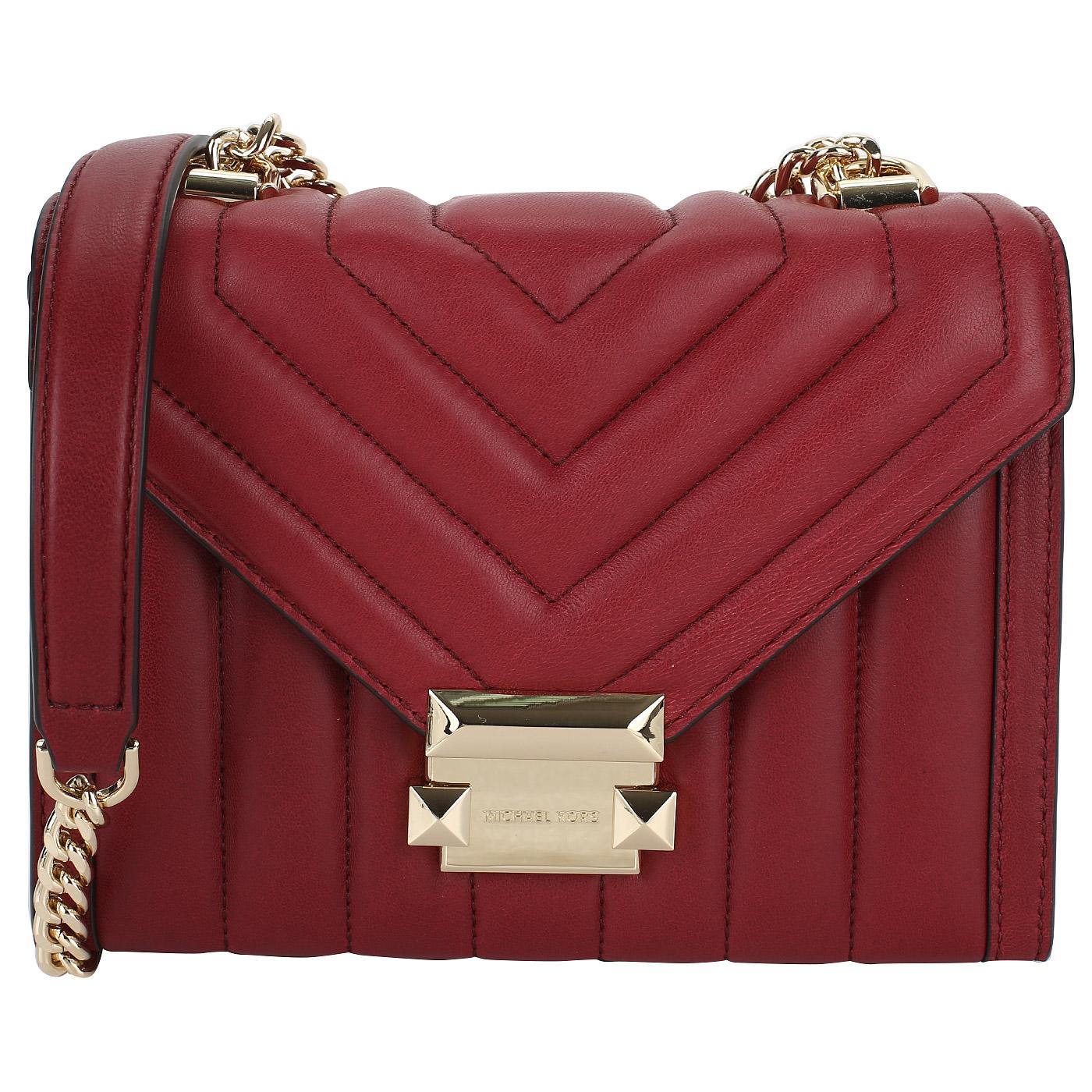 597054077ad8 Стеганая сумочка из кожи Michael Kors Whitney 30F8GXIL1T/550 ...