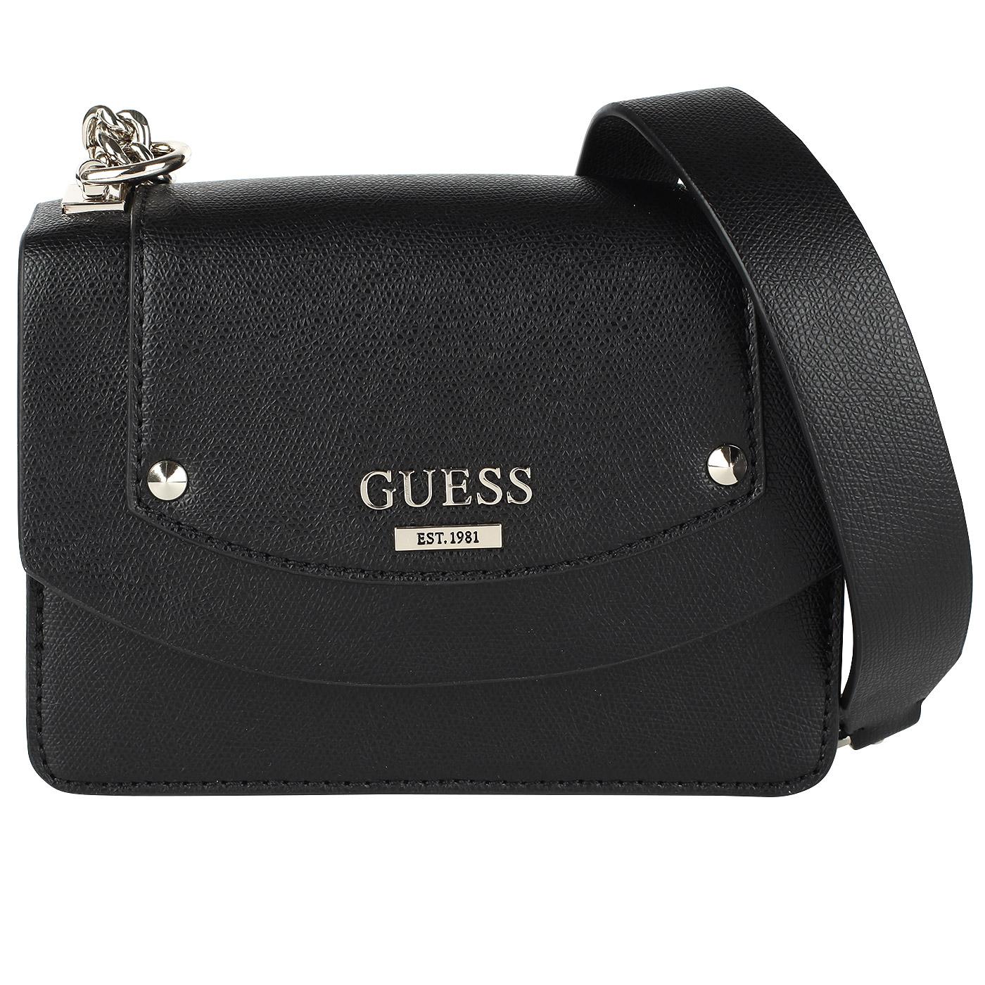 12275599a505 ... Маленькая черная сумочка на цепочке через плечо Guess Cool Mix ...