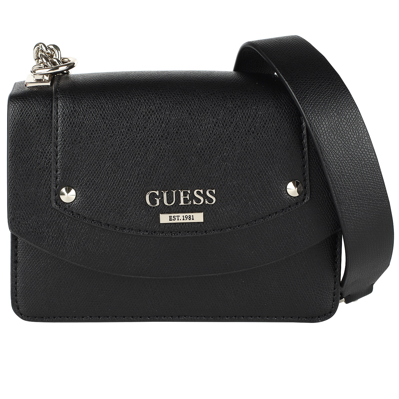 ab9df1bef1d6 ... Маленькая черная сумочка на цепочке через плечо Guess Cool Mix ...