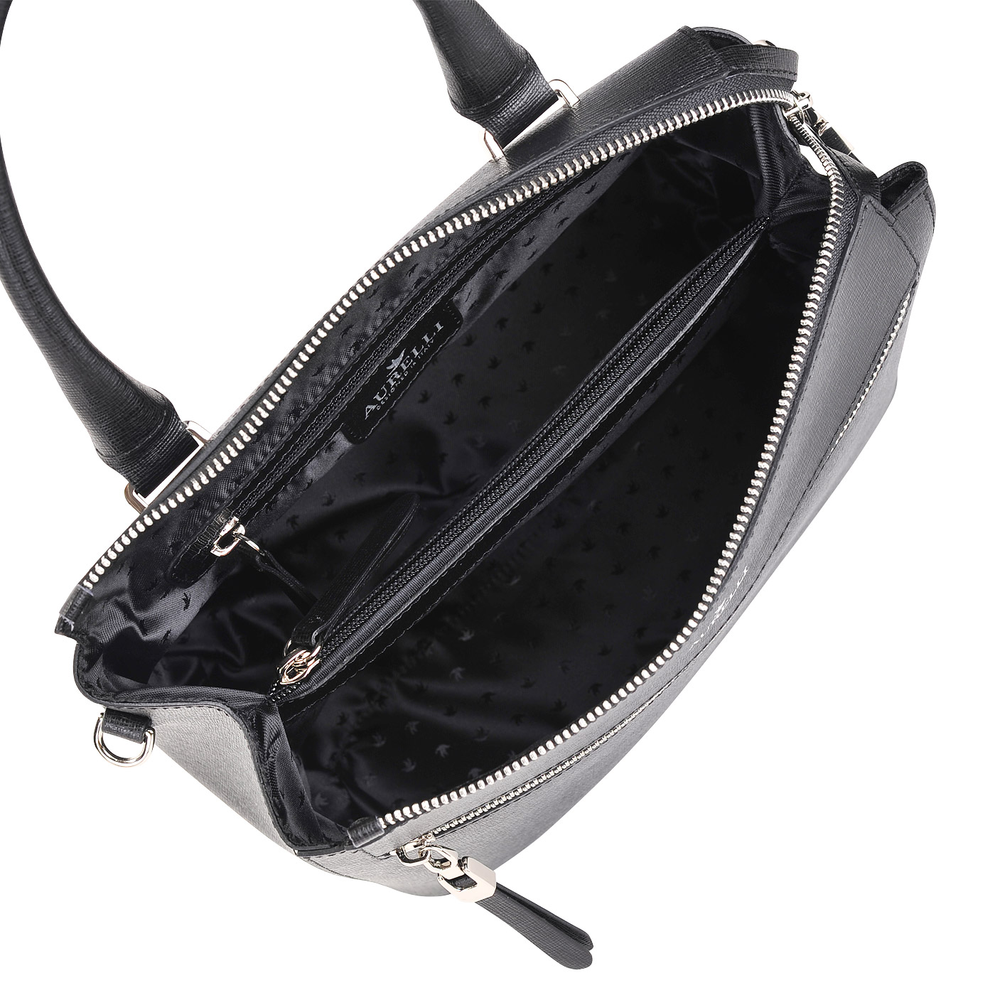3fd6153598ea Женская кожаная сумка Aurelli 16W0041-18S-nero - 2000557669345 ...