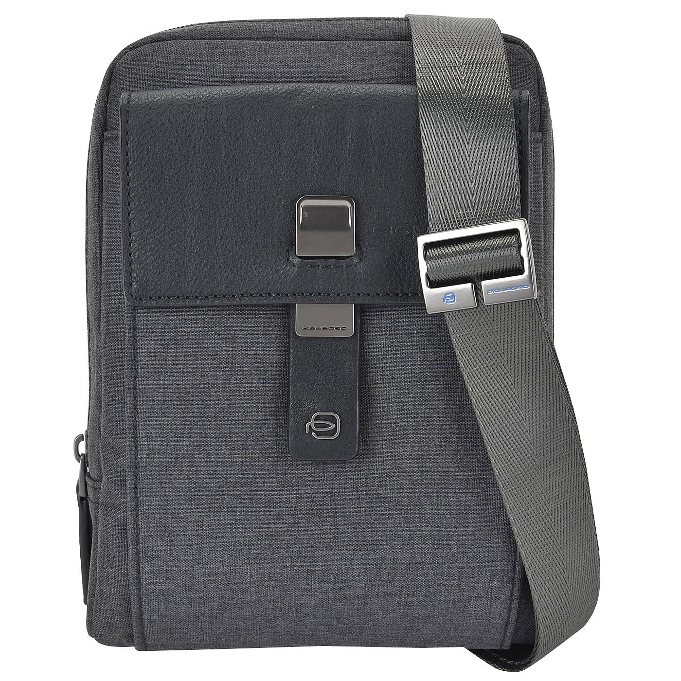 153f4b62bb5c Мужская текстильная сумка через плечо Piquadro Yukon Мужская текстильная  сумка через плечо Piquadro Yukon ...