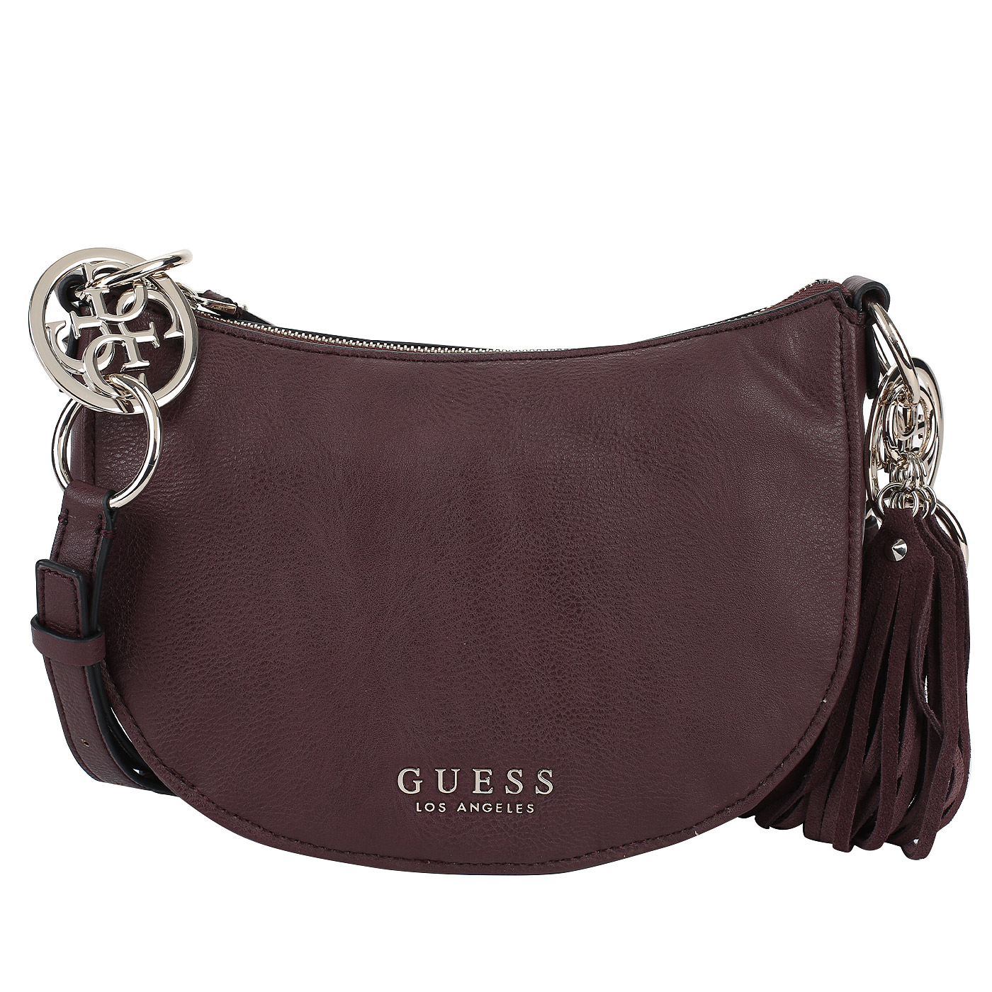 ff1cb91aedfc Бордовая сумка-седло Guess Alana Бордовая сумка-седло Guess Alana ...