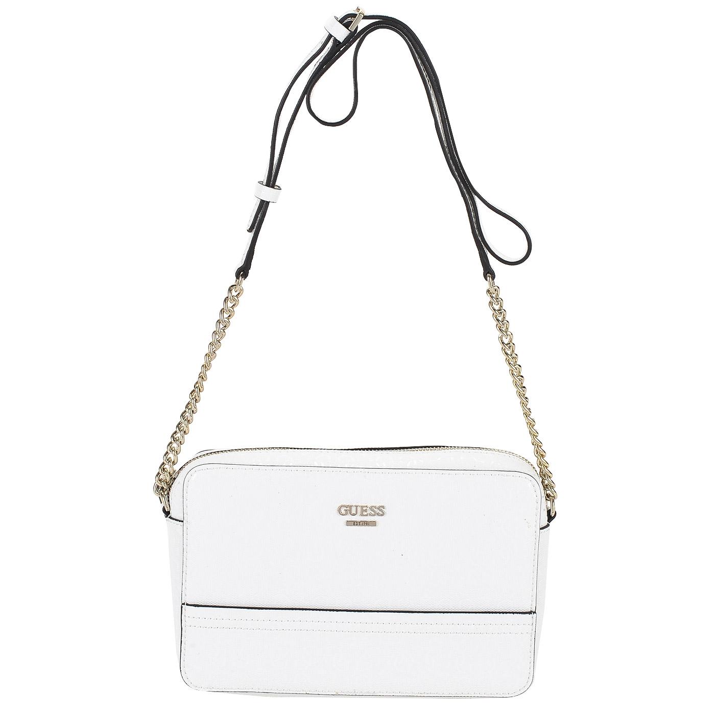 7d8828c36ac6 Женская белая сумка через плечо Guess Devyn HWGS64 21120_white ...