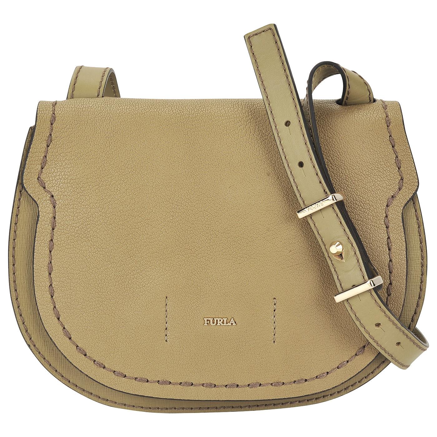 6aa14e67351e Женская кожаная сумка через плечо Furla Gioia BKW7_kaki ...