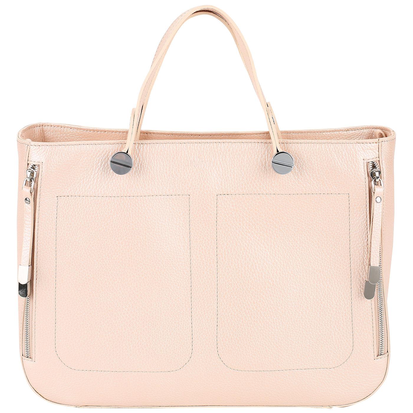 08b9e332609b Женская сумка с четырьмя наружными карманами Chatte DB9239_rose ...