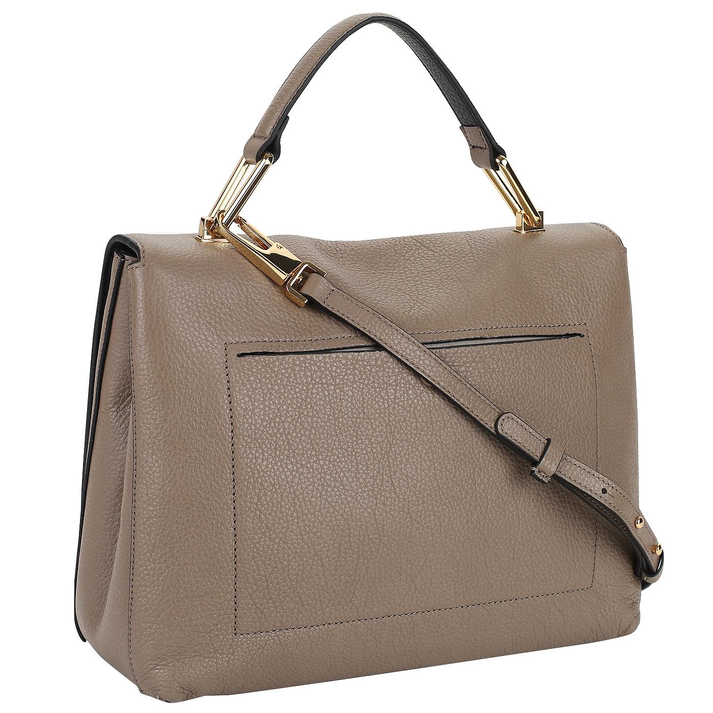 9daab0f0feb4 Кожаная сумка Coccinelle Liya CD0 18 01 01_taupe/nero ...