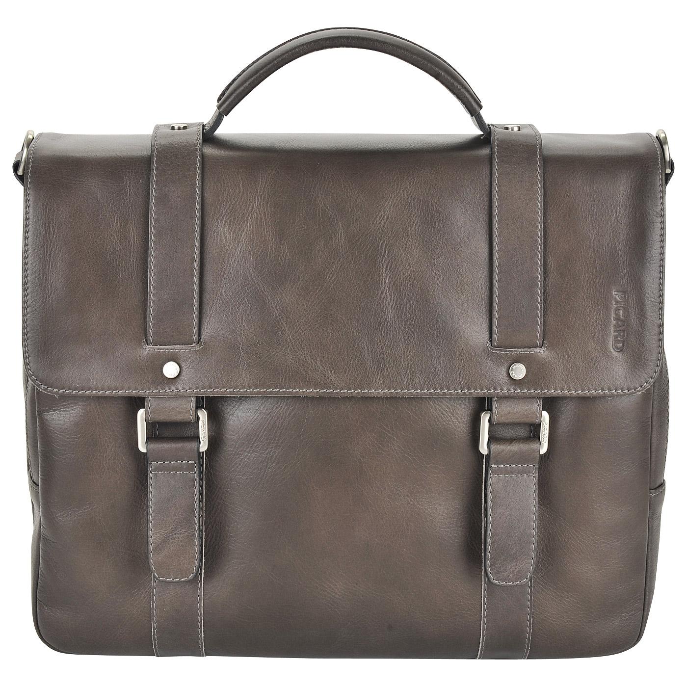 32cb5ee63276 Мужской кожаный портфель коричневого цвета Picard Buddy