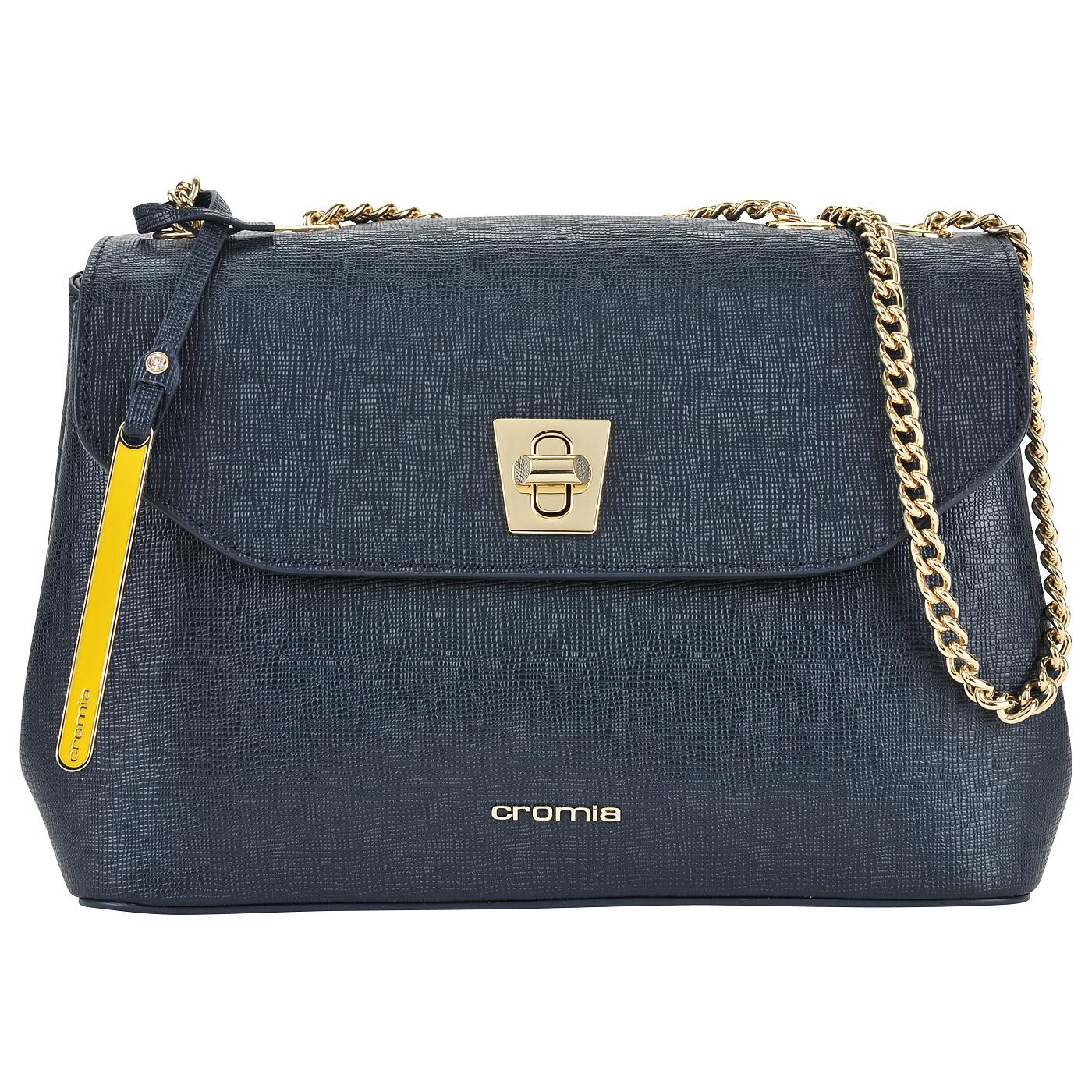 Женская сумка из сафьяновой кожи на цепочке через плечо Cromia Mina ... 9d1662c25d8