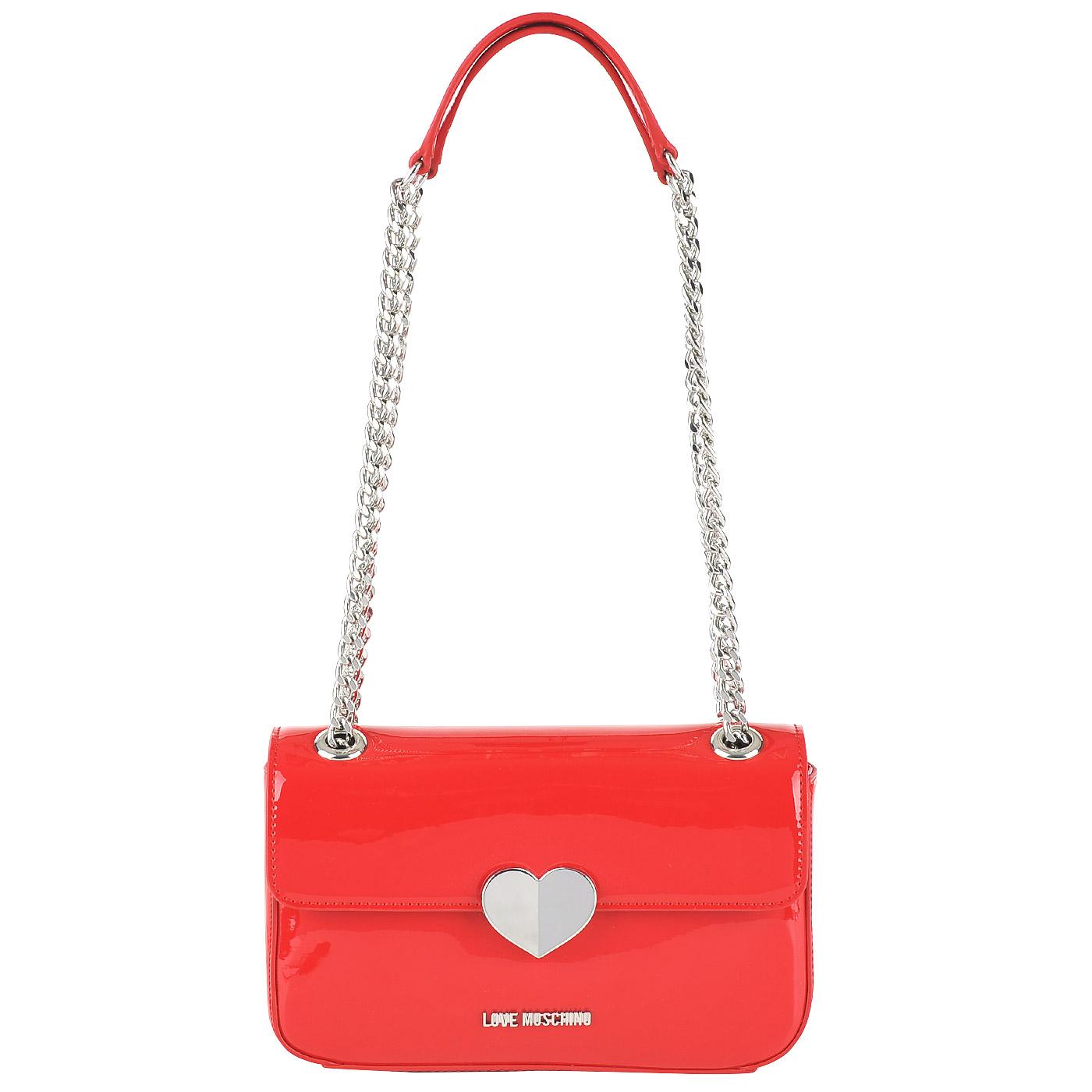 61728a92b772 Женская сумка через плечо Love Moschino Cut heart JC4249PP03_500 ...