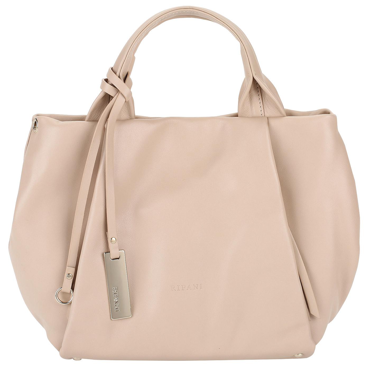 29e40691de6e Женская сумка из бежевой мягкой кожи Ripani Lime 7835LL.00006 ...