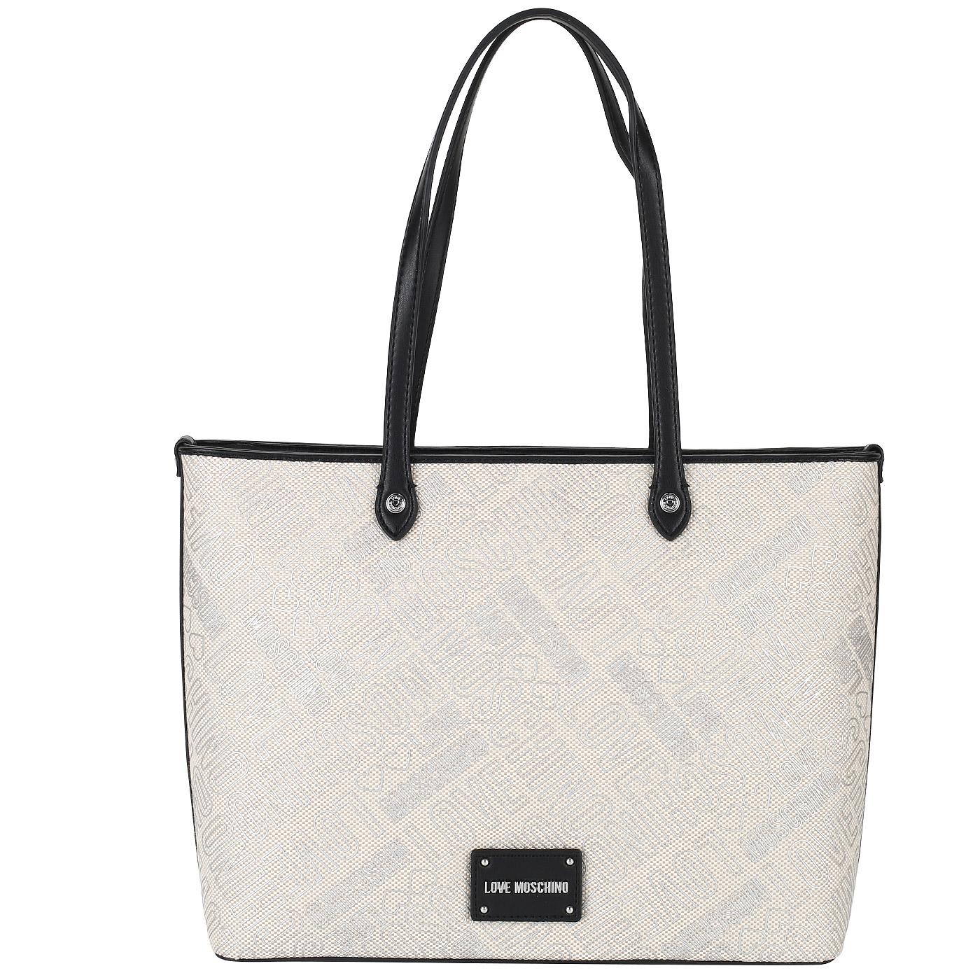 b6b302ef04a5 Вместительная женская сумка Love Moschino Embossed canvas Вместительная  женская сумка Love Moschino Embossed canvas ...