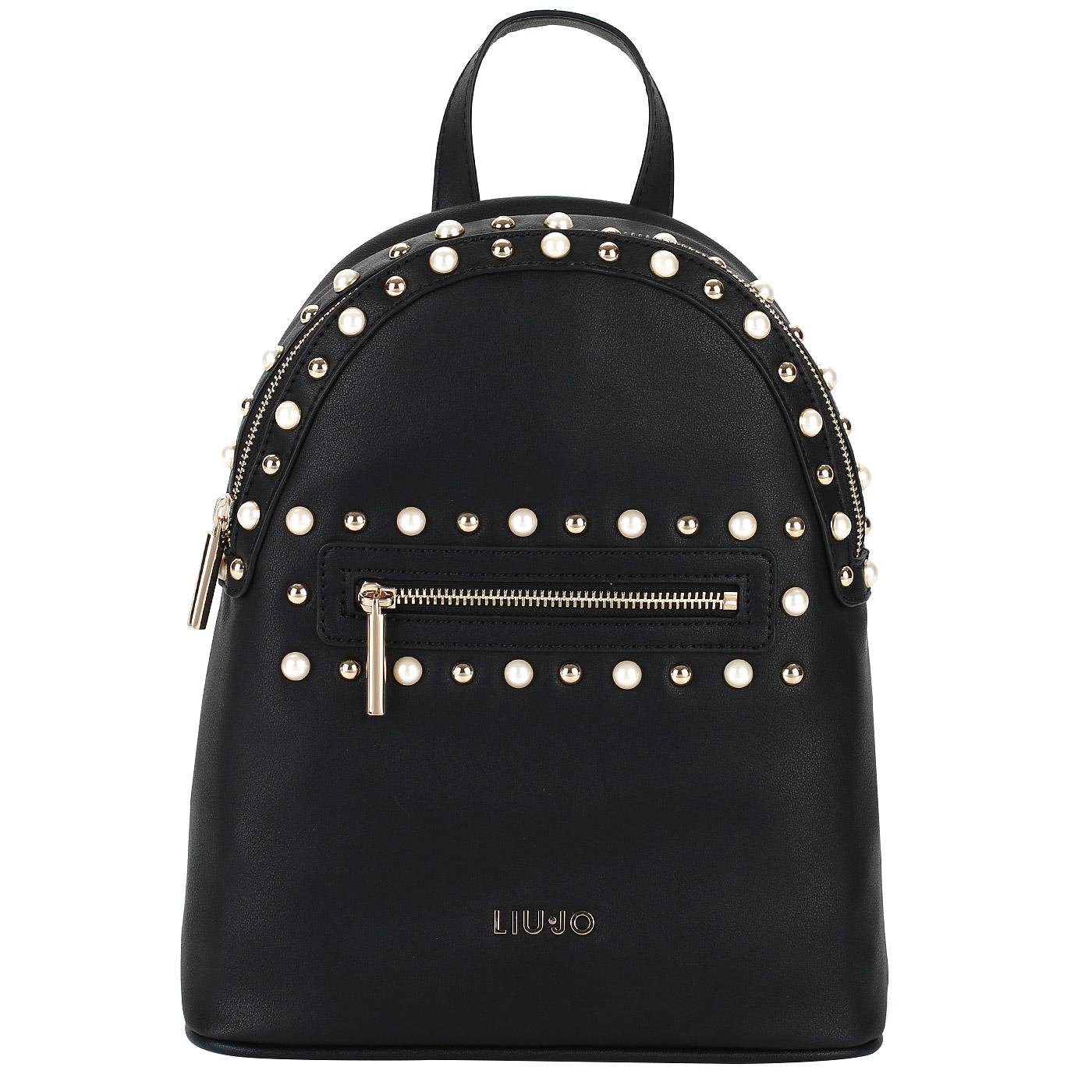 Женский черный рюкзак Liu Jo Honolulu A18065E0010 nero ... cc5b20d2154