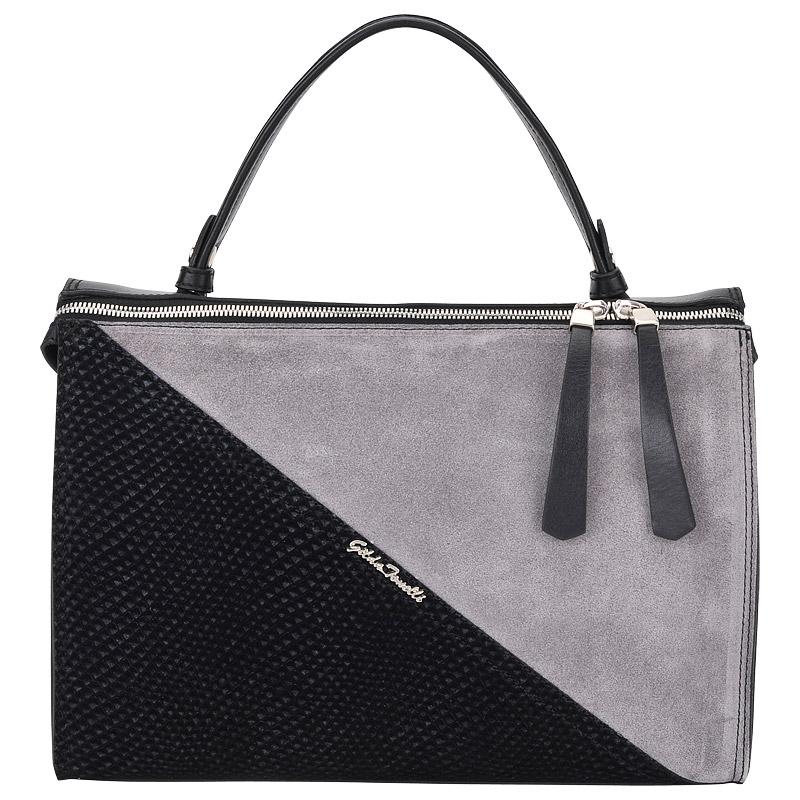 4d909925 Женская кожаная сумка Gilda Tonelli Vit Corn 5166_nero/grigio ...