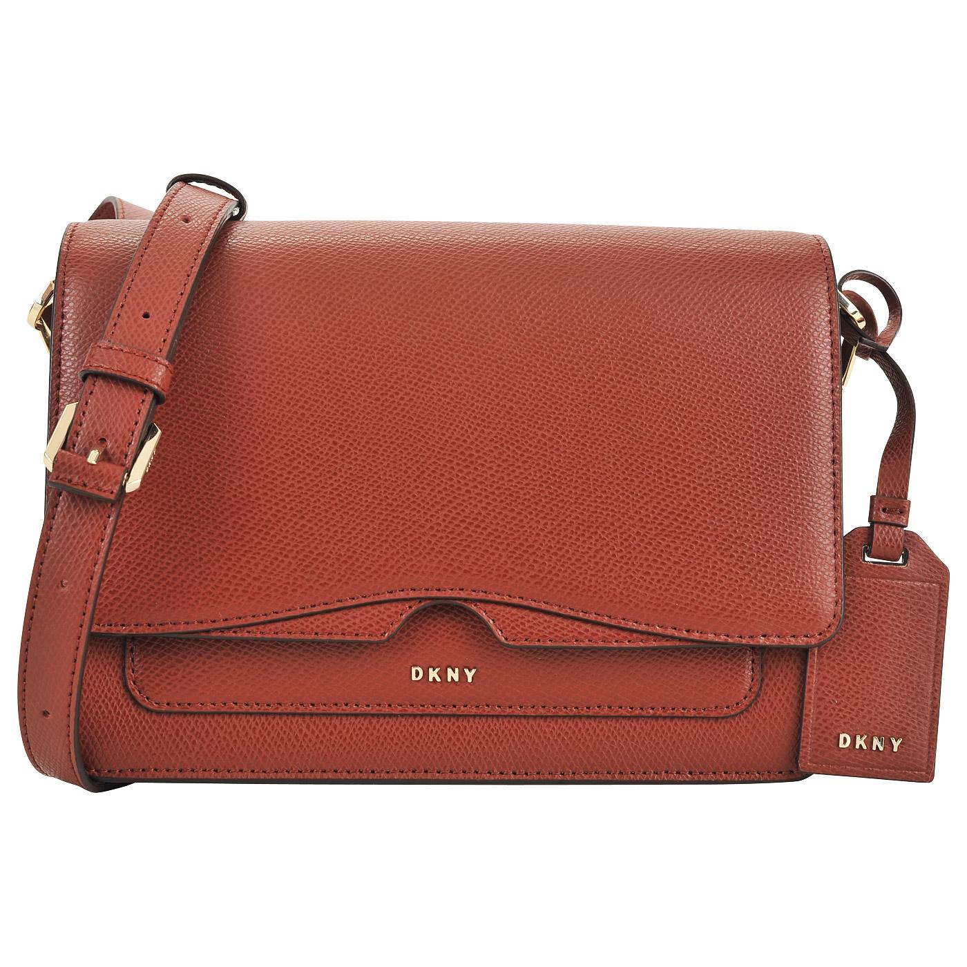 6c45d7e8da3a ... Женская красная сумка кросс-боди из сафьяновой кожи DKNY Cross Saffiano  ...