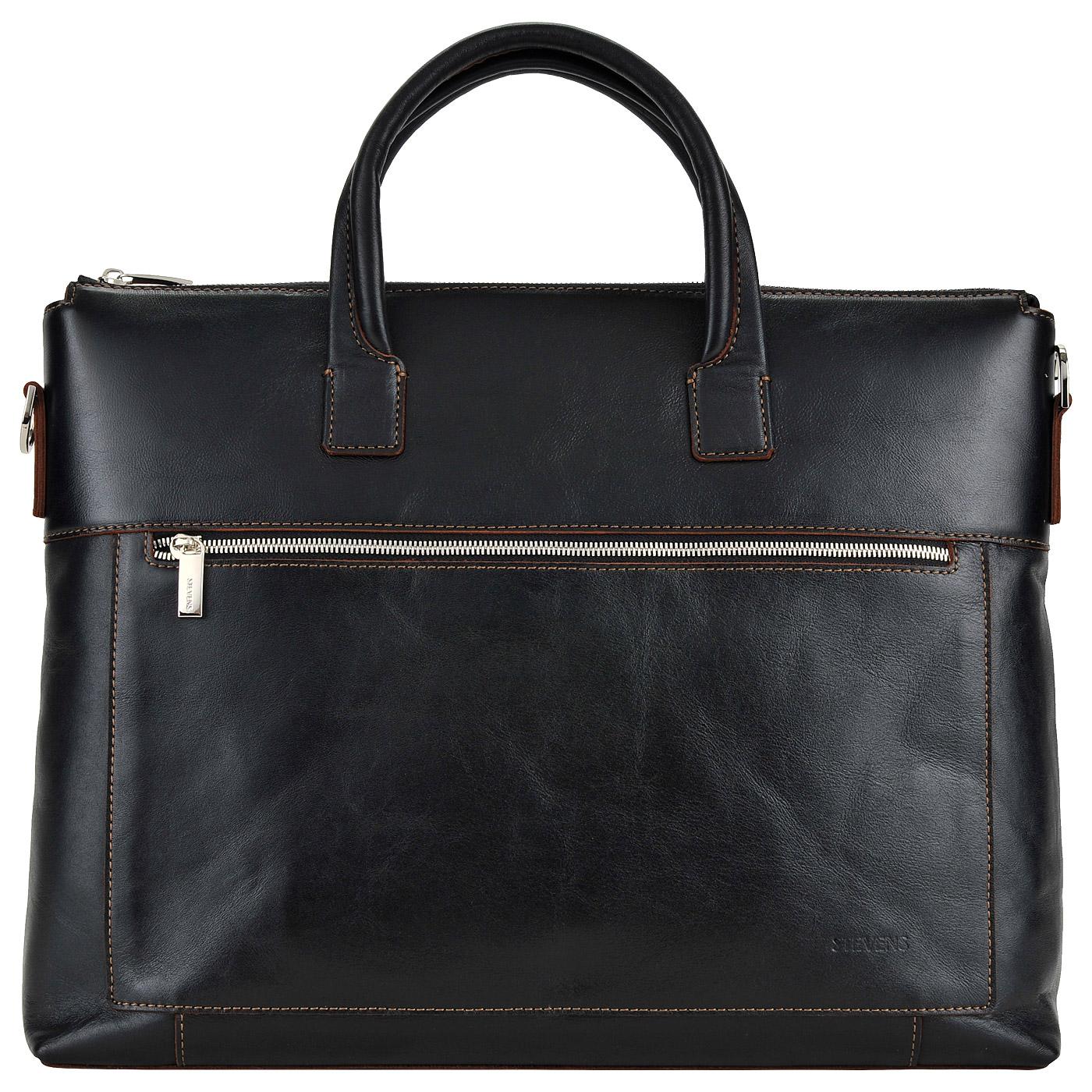 3314840df6a0 Вместительная мужская деловая сумка из натуральной кожи Stevens STD ...