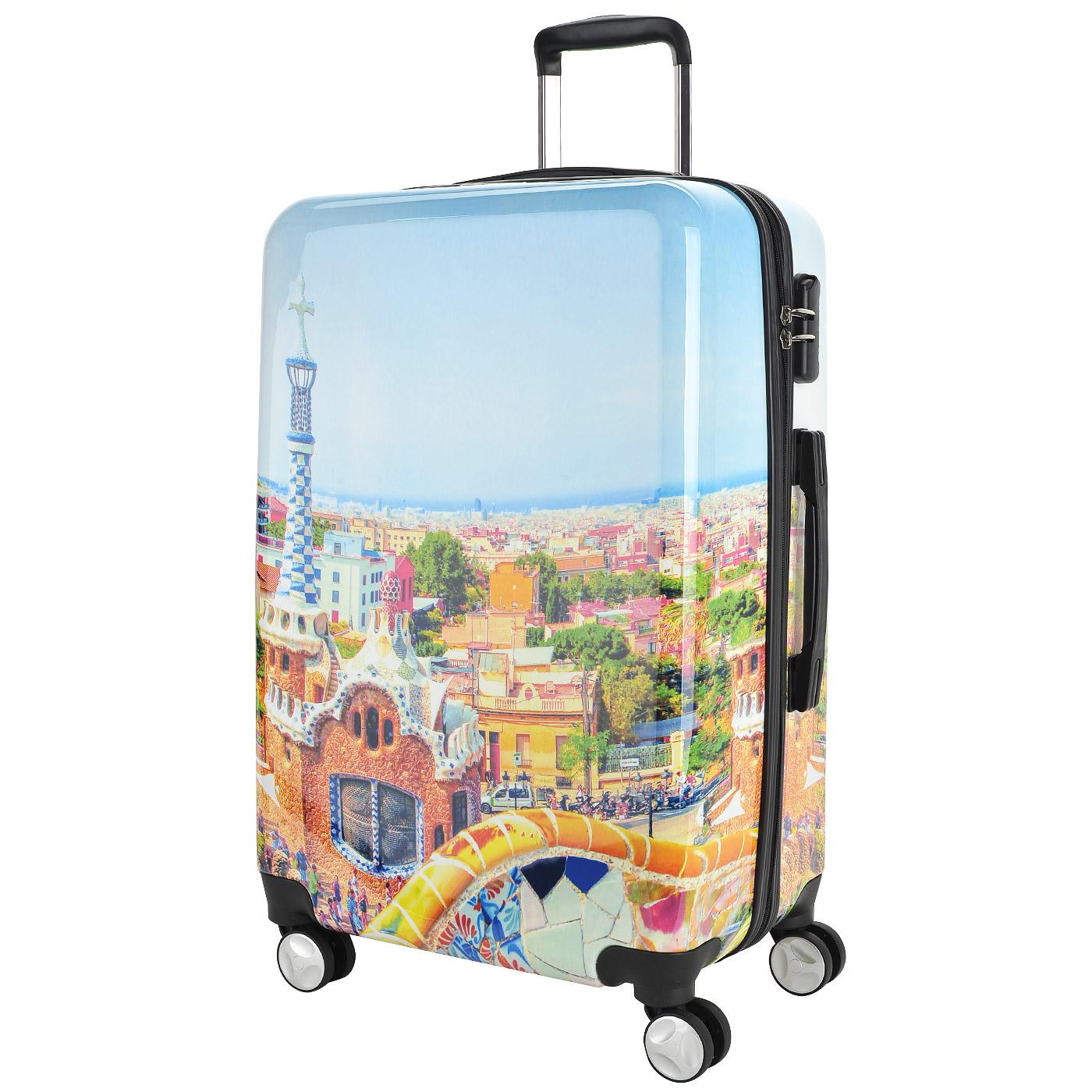 bdfd2a8834a9 Чемодан на колесах Sun Voyage Barcelona Чемодан на колесах Sun Voyage  Barcelona ...