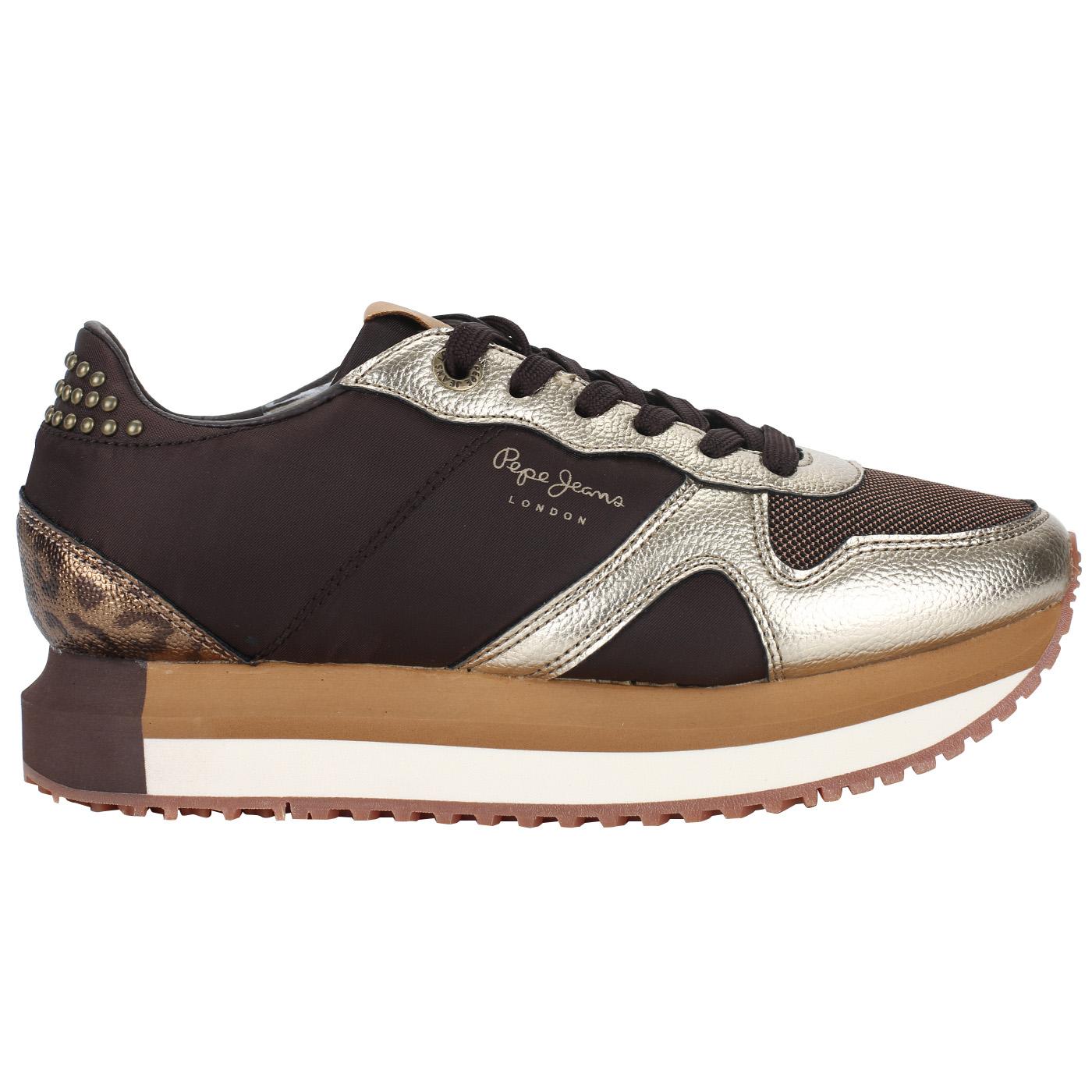 09bb0ce6 Кроссовки-сникеры Pepe Jeans London Zion Studs PLS30787_dark brown ...