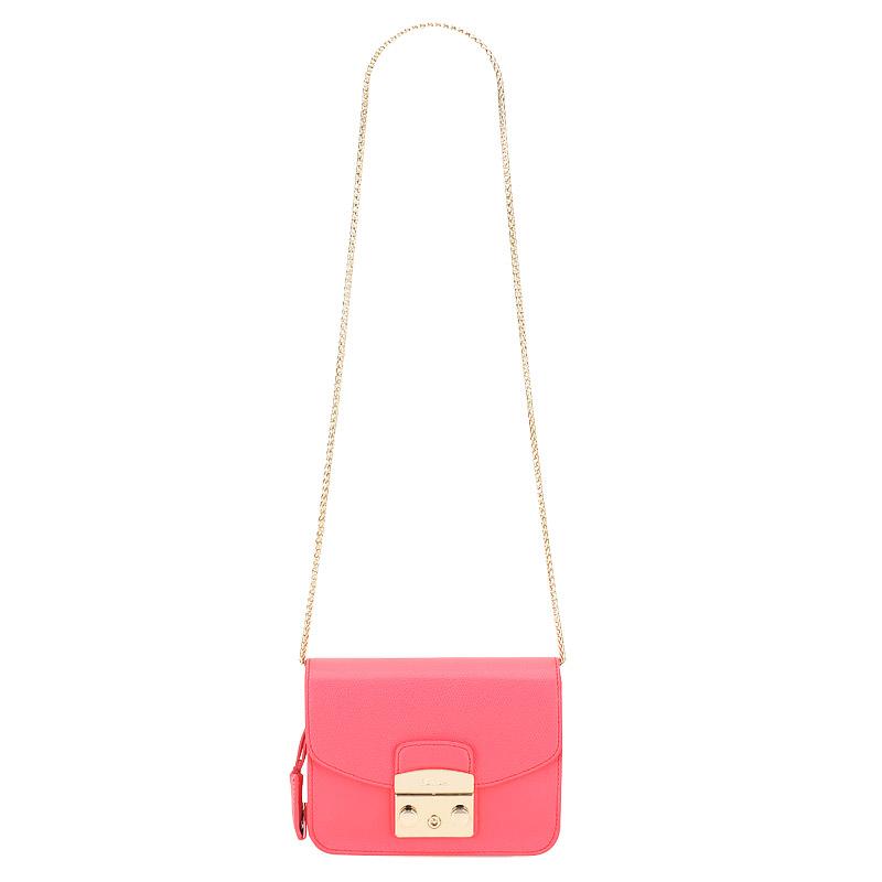 Клатч Furla Metropolis BCU6_pinky fluo розовый натуральная кожа 17 x 13 купить в интернет-магазине