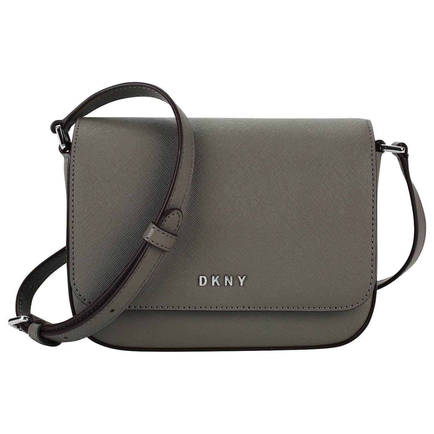 c6802224464b Маленькая сафьяновая сумочка DKNY Bryant R81E1328-CLY - 2000557905818 серый  натуральная кожа 18 x 13 x 7 Цена 12588 руб. купить в интернет-магазине ...