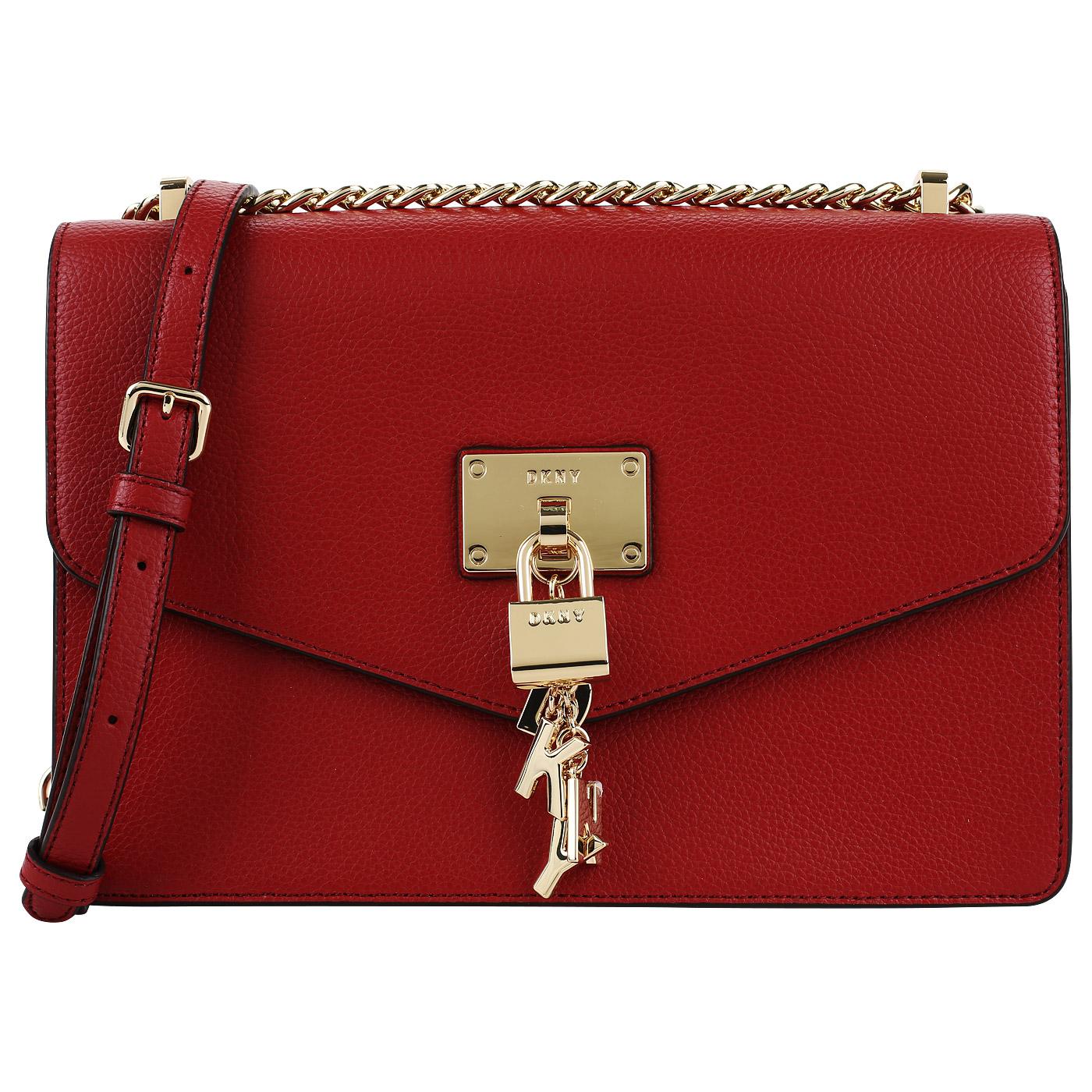 552e0cdbccde Красная кожаная сумка DKNY Elissa Красная кожаная сумка DKNY Elissa ...
