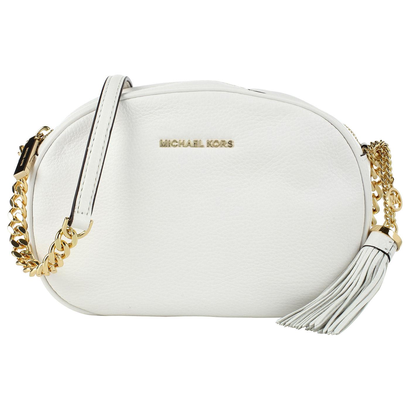 8c0bee1e39c1 ... Маленькая белая сумка кросс-боди из натуральной кожи Michael Kors Ginny  ...