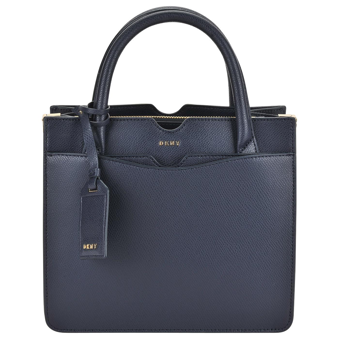Синяя сумка с короткими ручками