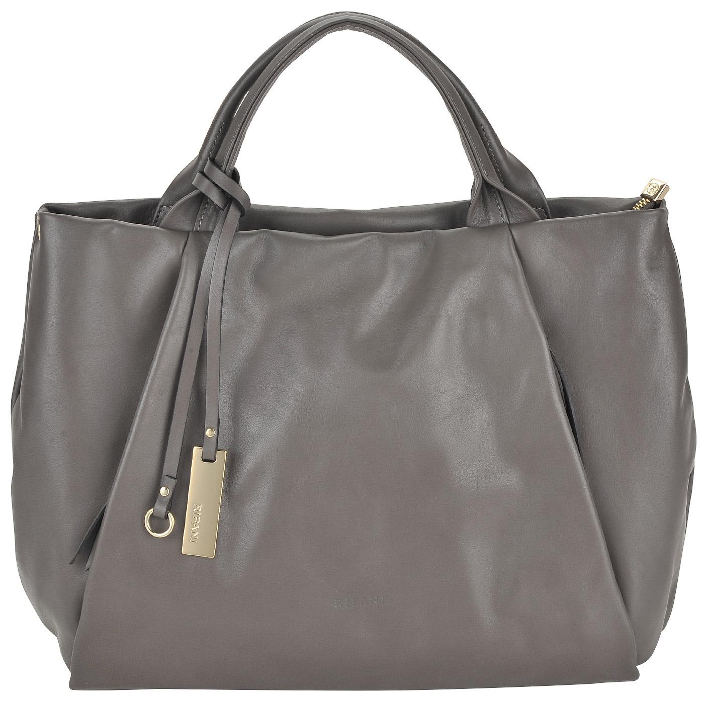 543511ce473e Женская серая сумка из гладкой мягкой кожи Ripani Lime 7831LL.00042 ...
