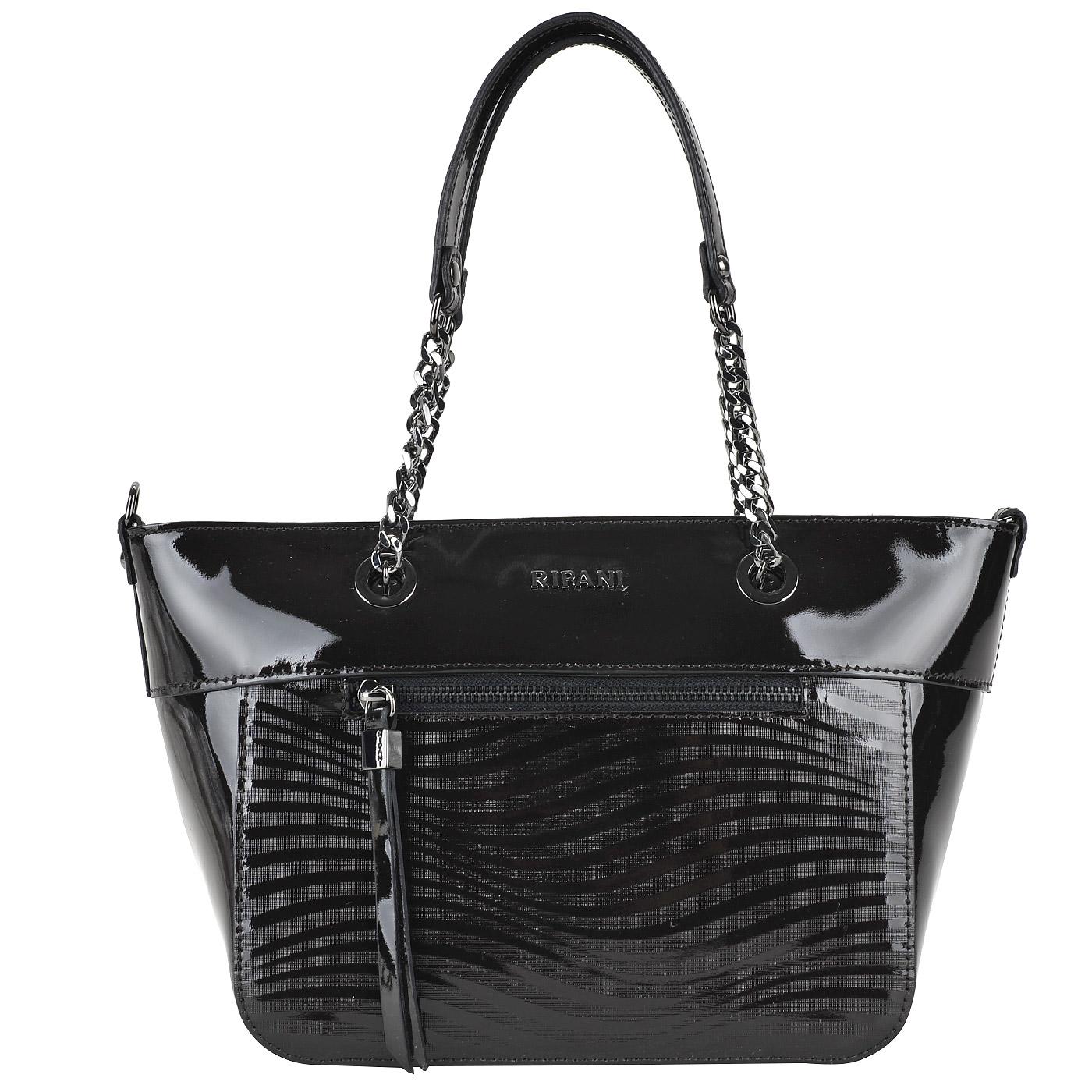 c378b6c0ce36 Женская сумка из натуральной лакированной кожи Ripani Nigella 7934QZ ...