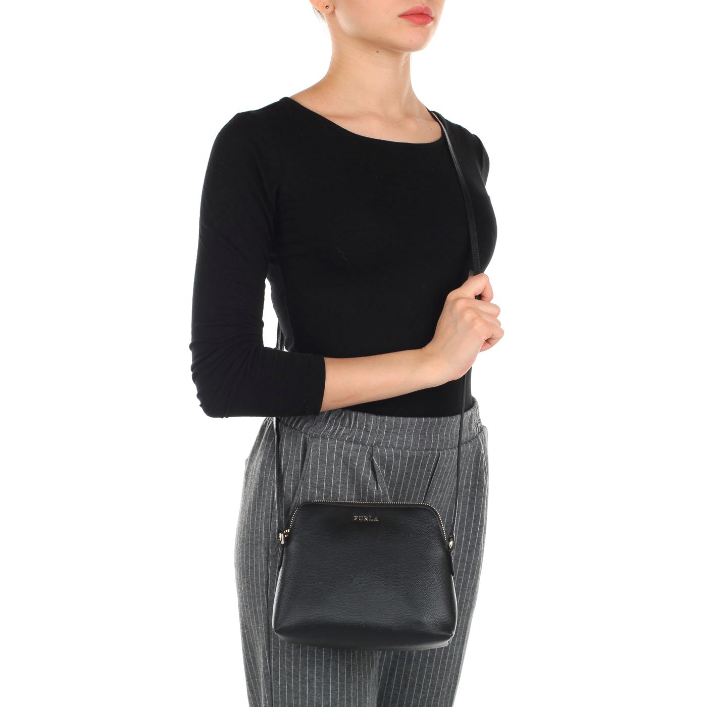 564749ca68c7 Женская кожаная сумочка через плечо + косметичка + визитница Furla Boheme