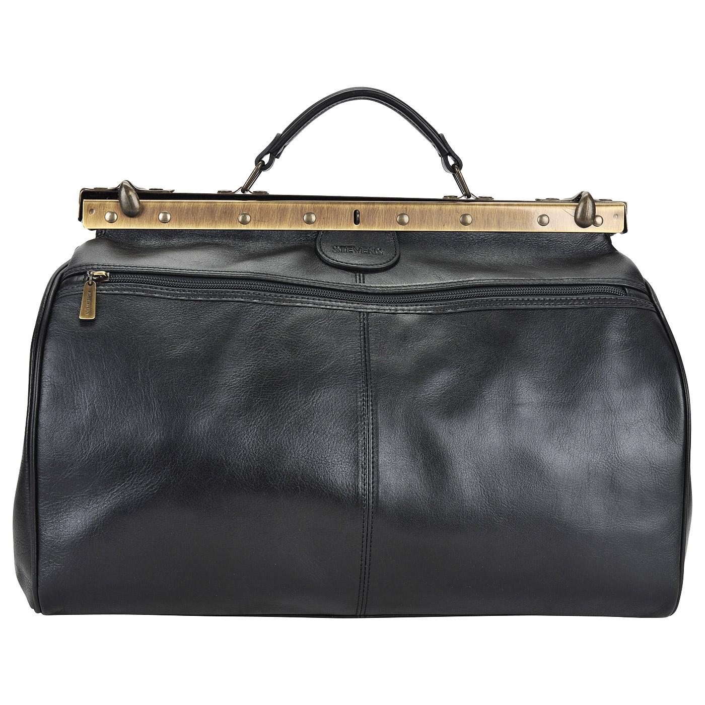 Кожаная винтажная сумка-саквояж Stevens STA-2974 V-nero - 2000557748576  черный натуральная кожа 44 x 32 x 28 Цена 20480 руб. купить в  интернет-магазине ... 80b897bbb07
