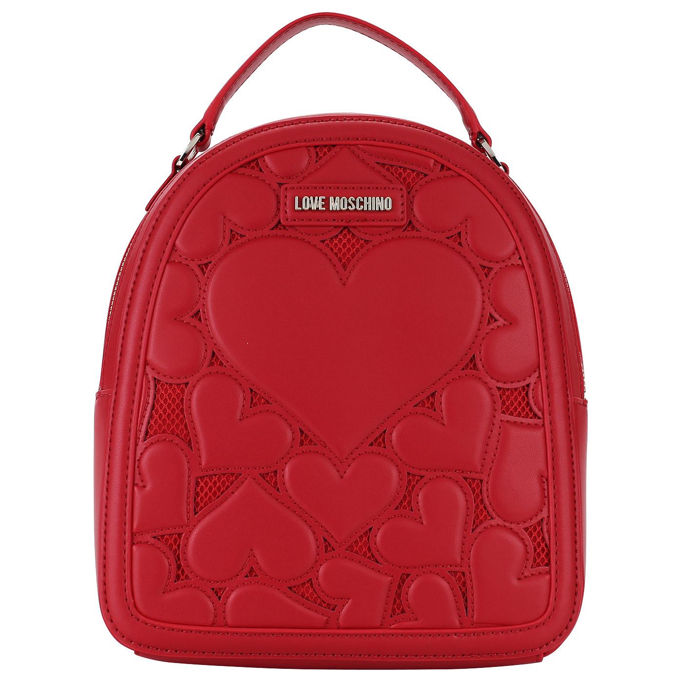 93df879c5cfd Красный женский рюкзак Love Moschino Love Intarsia JC4058PP15_50A ...