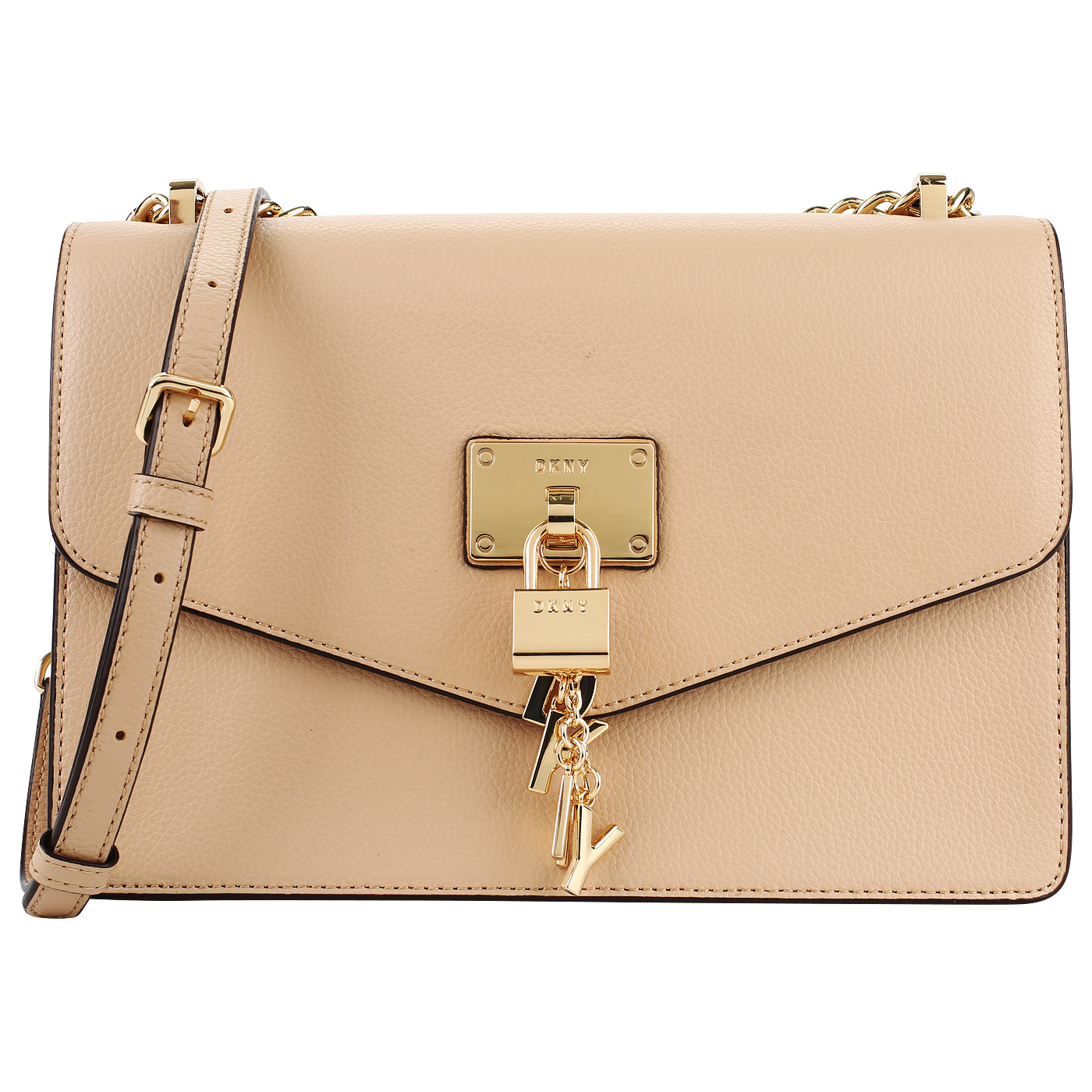 6e9905e7026f Бежевая сумка с откидным клапаном DKNY Elissa R813H281-273 ...