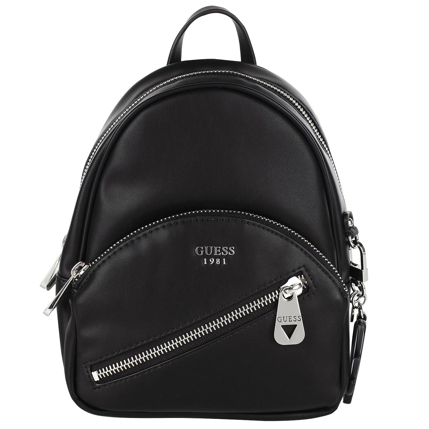 659d4c7c7b42 Маленький женский рюкзак черного цвета Guess Bradyn Маленький женский рюкзак  черного цвета Guess Bradyn ...