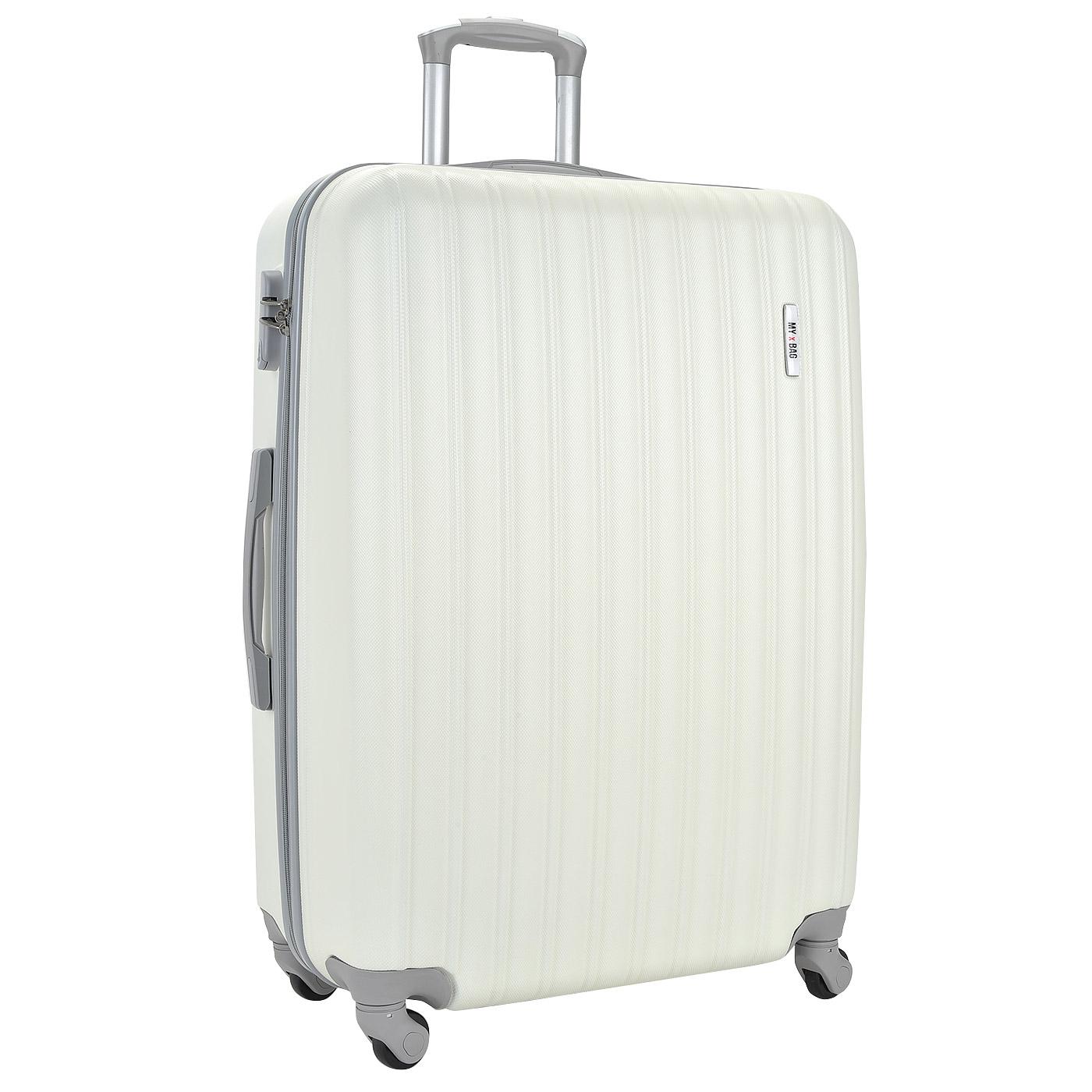 Чемодан на колесах MyxBag MXB-white-L-i - 2000557800427 белый ABS ... 7e564cc4e75