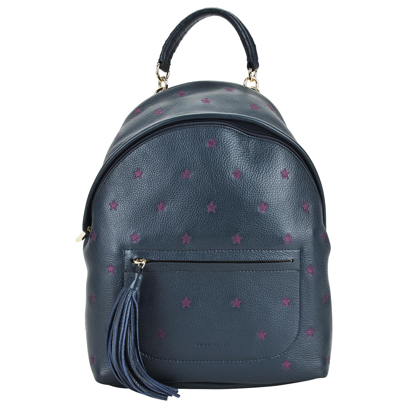 5b9df70cb985 ... Женский кожаный рюкзак с вышивкой Coccinelle Leonie embroidery ...