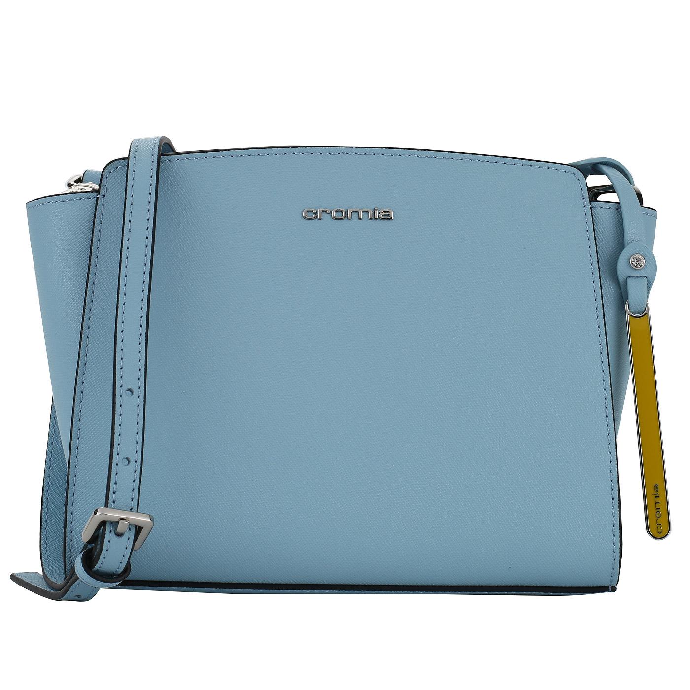 47003743d7e4 Голубая сафьяновая сумочка Cromia Perla 1403597_azzurro ...