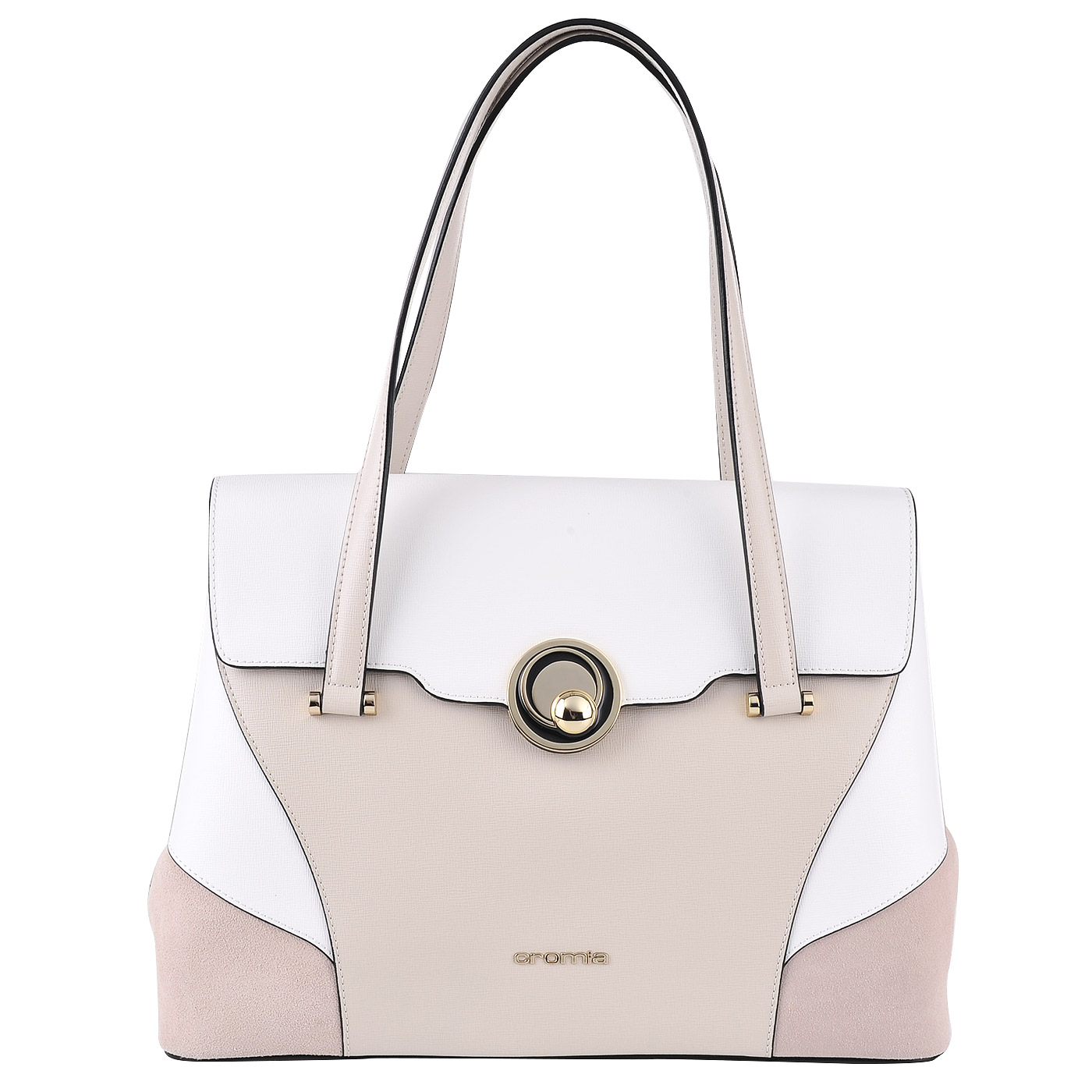 793b03162aec Женская кожаная сумка Cromia Stella 1403207_avorio/bianco/rosa ...