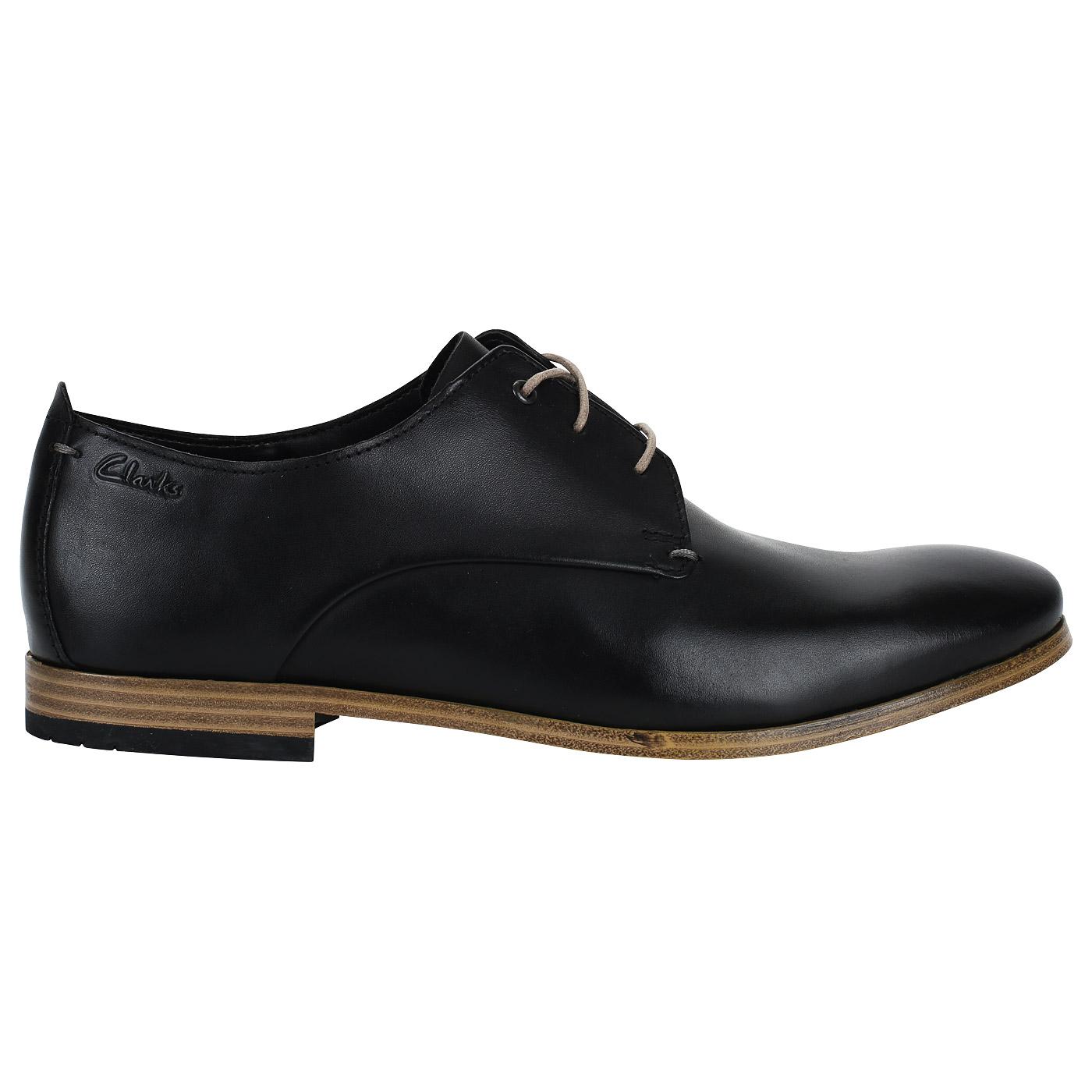 Мужские кожаные полуботинки черного цвета Clarks Chinley Walk ... ea3f3ac665c27