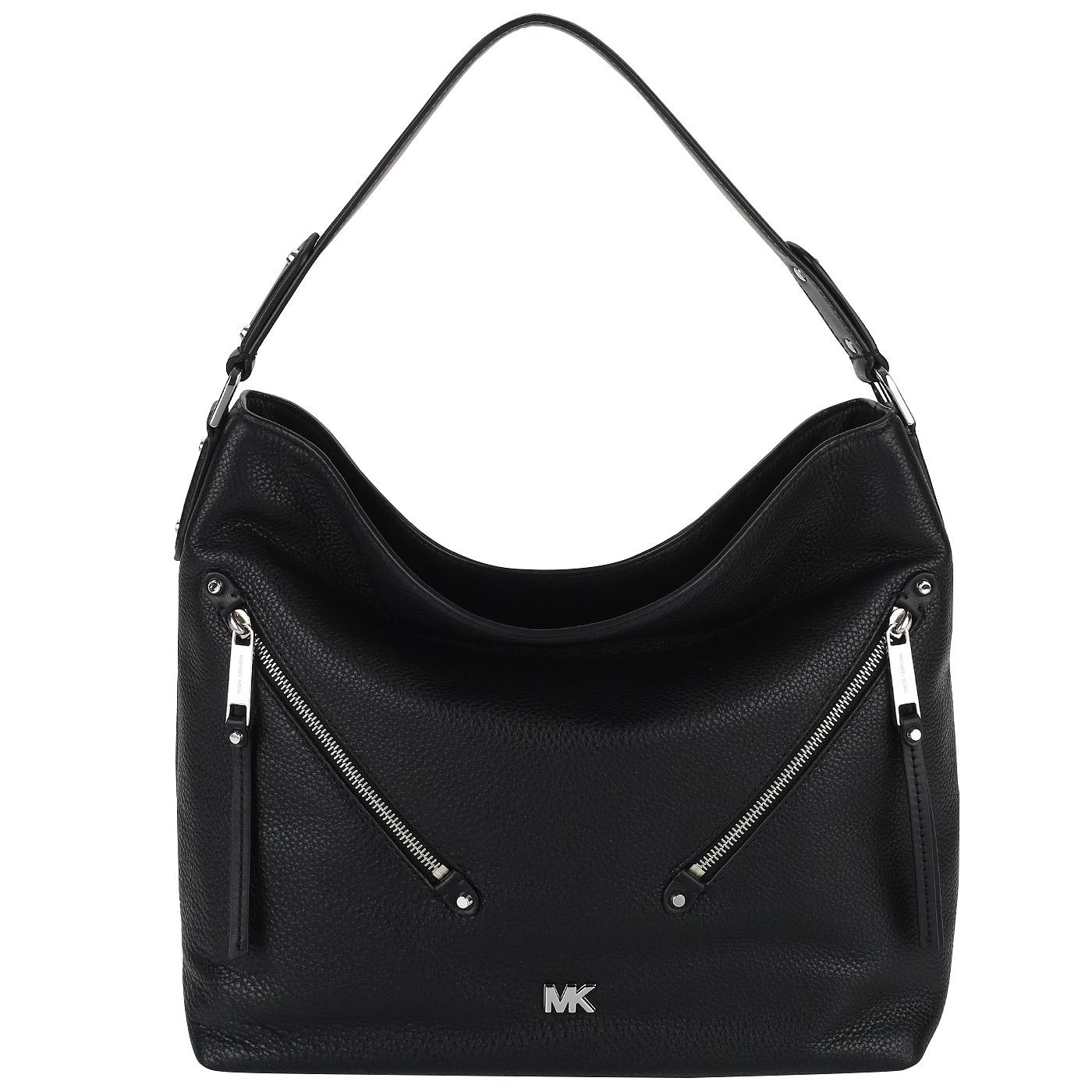 256a14d5535c Черная кожаная сумка Michael Kors Evie Черная кожаная сумка Michael Kors  Evie ...