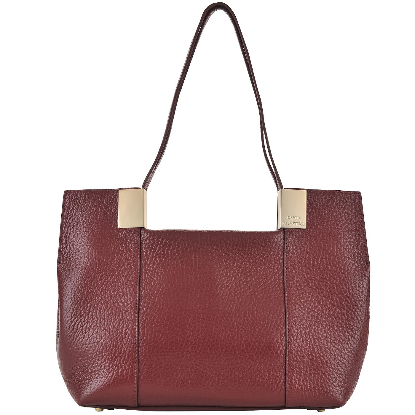 0b5a0d638dca ... Бордовая женская сумка из натуральной кожи Carlo Salvatelli Barone ...