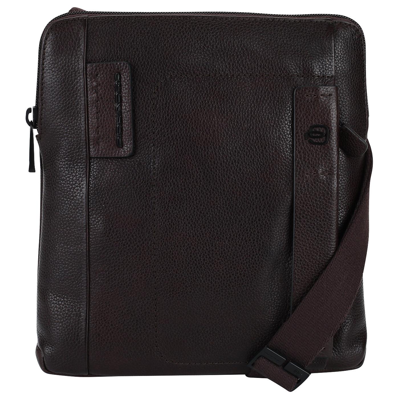 5080f9742bb1 Мужская сумка-планшет из коричневой кожи Piquadro Plus CA1358P15S/TM ...