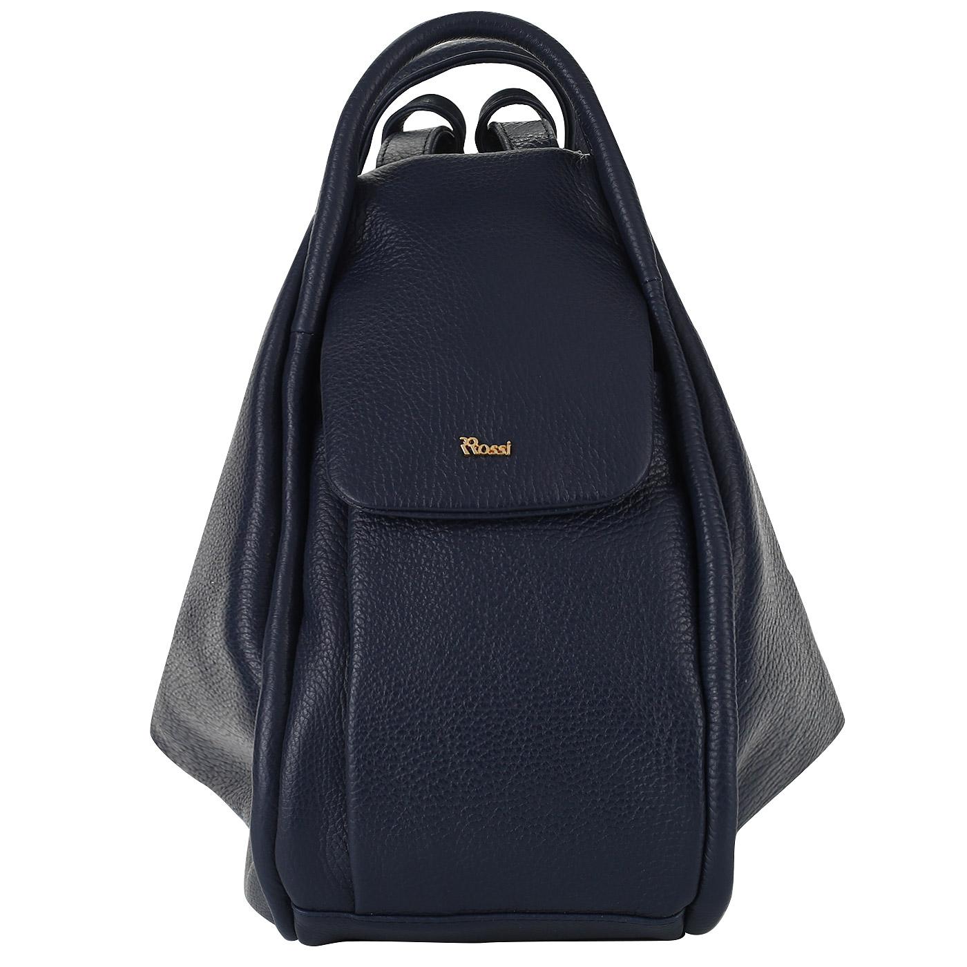 76c4b027f4a3 Женский кожаный рюкзак-трансформер Bruno Rossi MLX14_blu ...