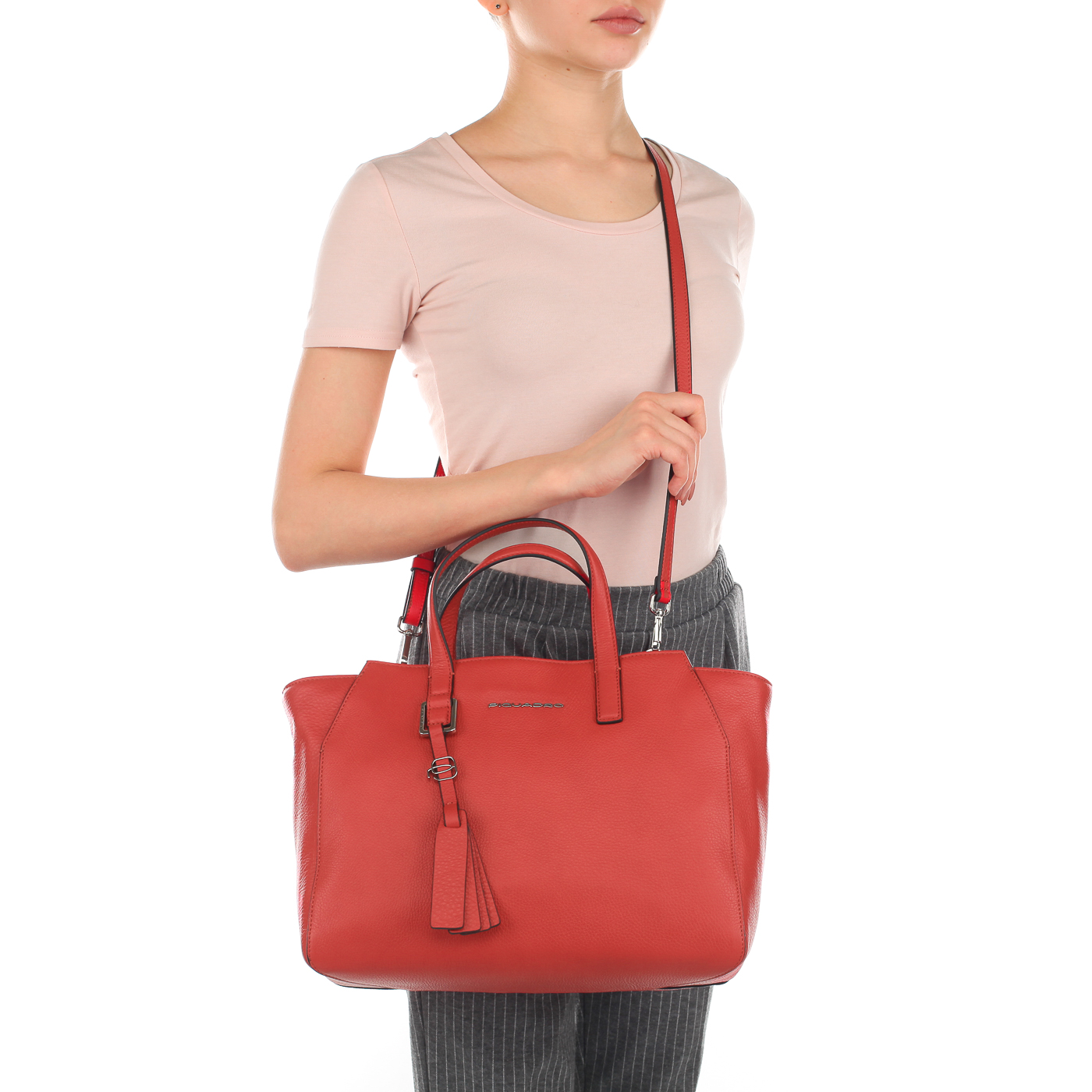 16d3c3fbea09 Женская сумка из красной кожи Piquadro Muse BD4326MU/R ...