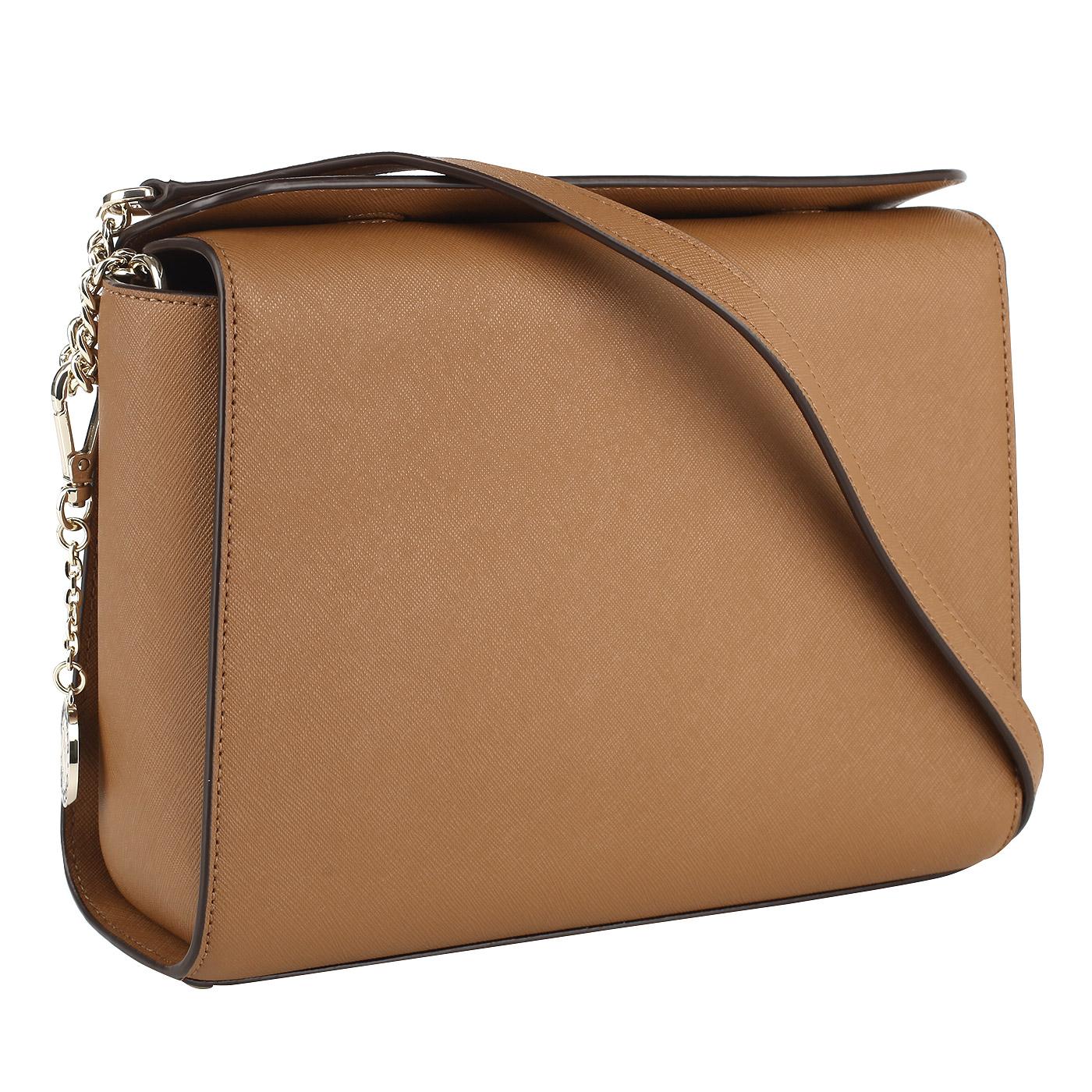 5a3ae9cab784 Женская сумка из натуральной сафьяновой кожи DKNY Saffiano R3101029 ...