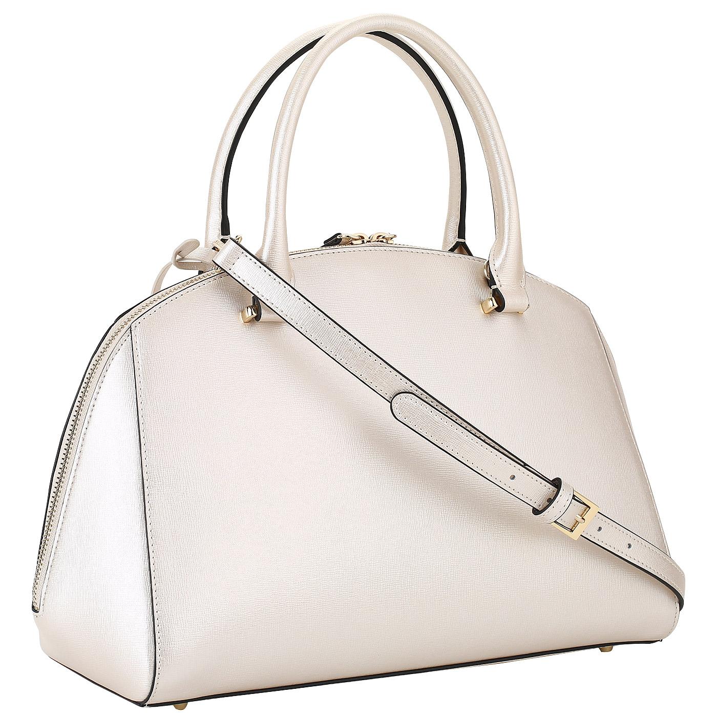 8e69a97e1a3e Женская сумка на двойной молнии Cromia Melania 1403695_platino ...