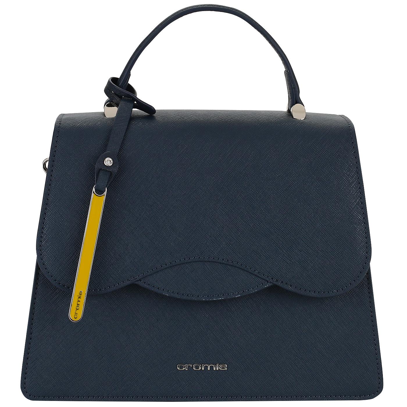 6b8b305da995 Кожаная сумка с плечевым ремешком Cromia Perla 1403593_blu ...