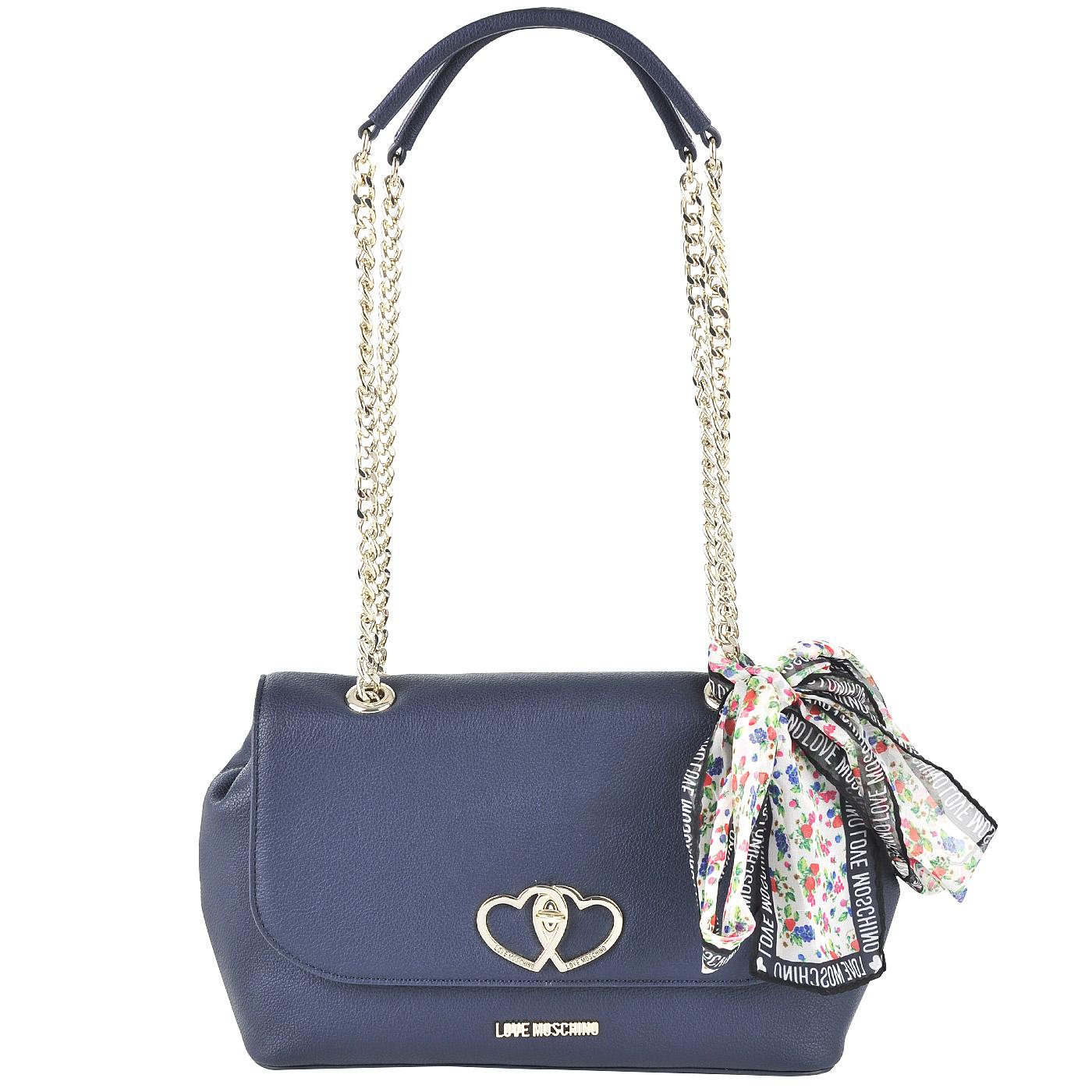 3ac9c7e3dedd Женская сумка через плечо Love Moschino Twin heart JC4261PP03_751 ...
