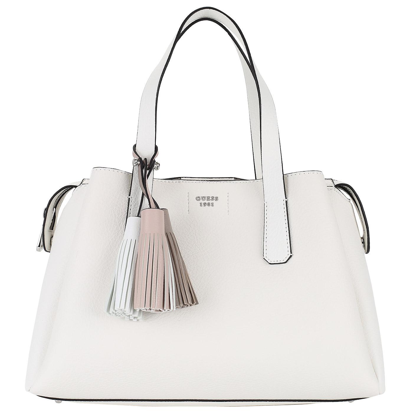 6d3bf1fb14f0 Белая женская сумка Guess Trudy HWVY69 54060_white - 2000557874473 ...