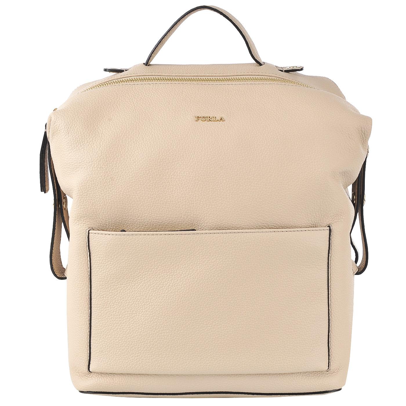 Кожаный рюкзак Furla Dafne BJT4 acero - 2000557707689 бежевый ... 55f95d1faf3