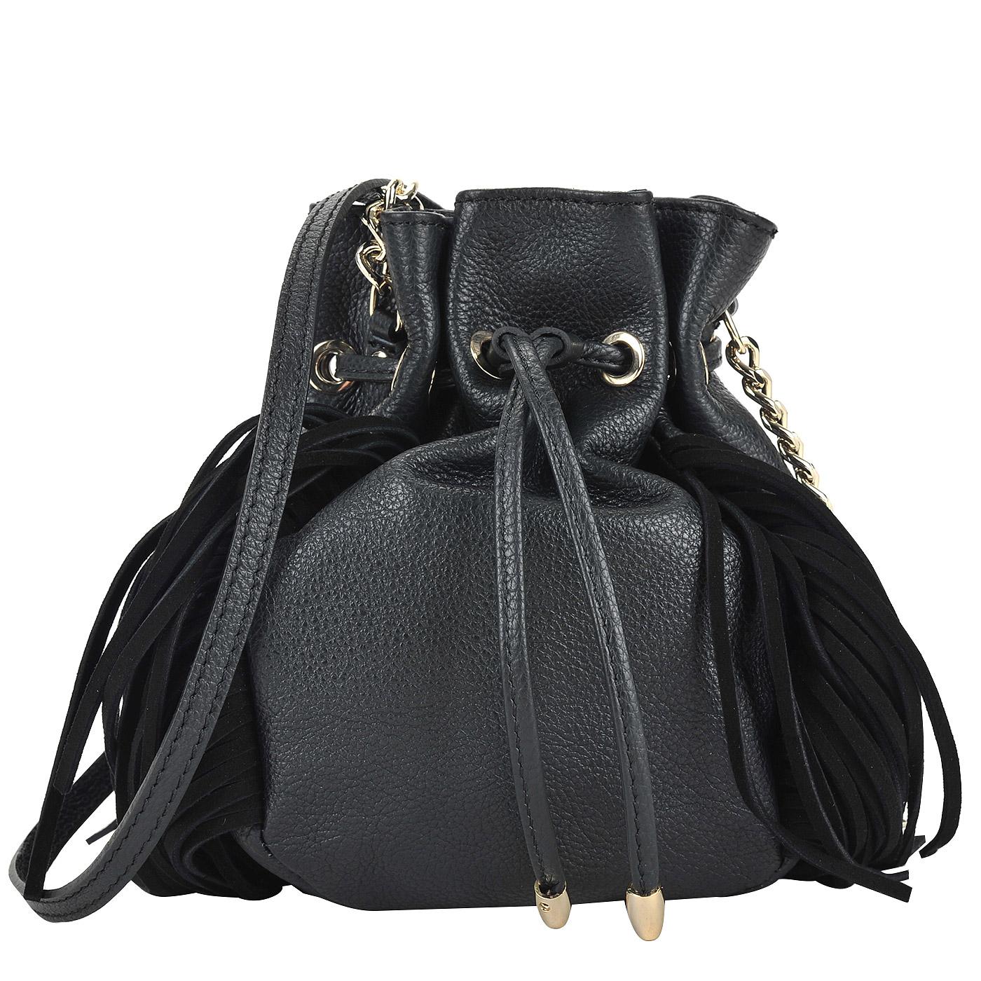 96193b720413 Женская сумка-торба из натуральной кожи Marina Creazioni 3670_nero ...